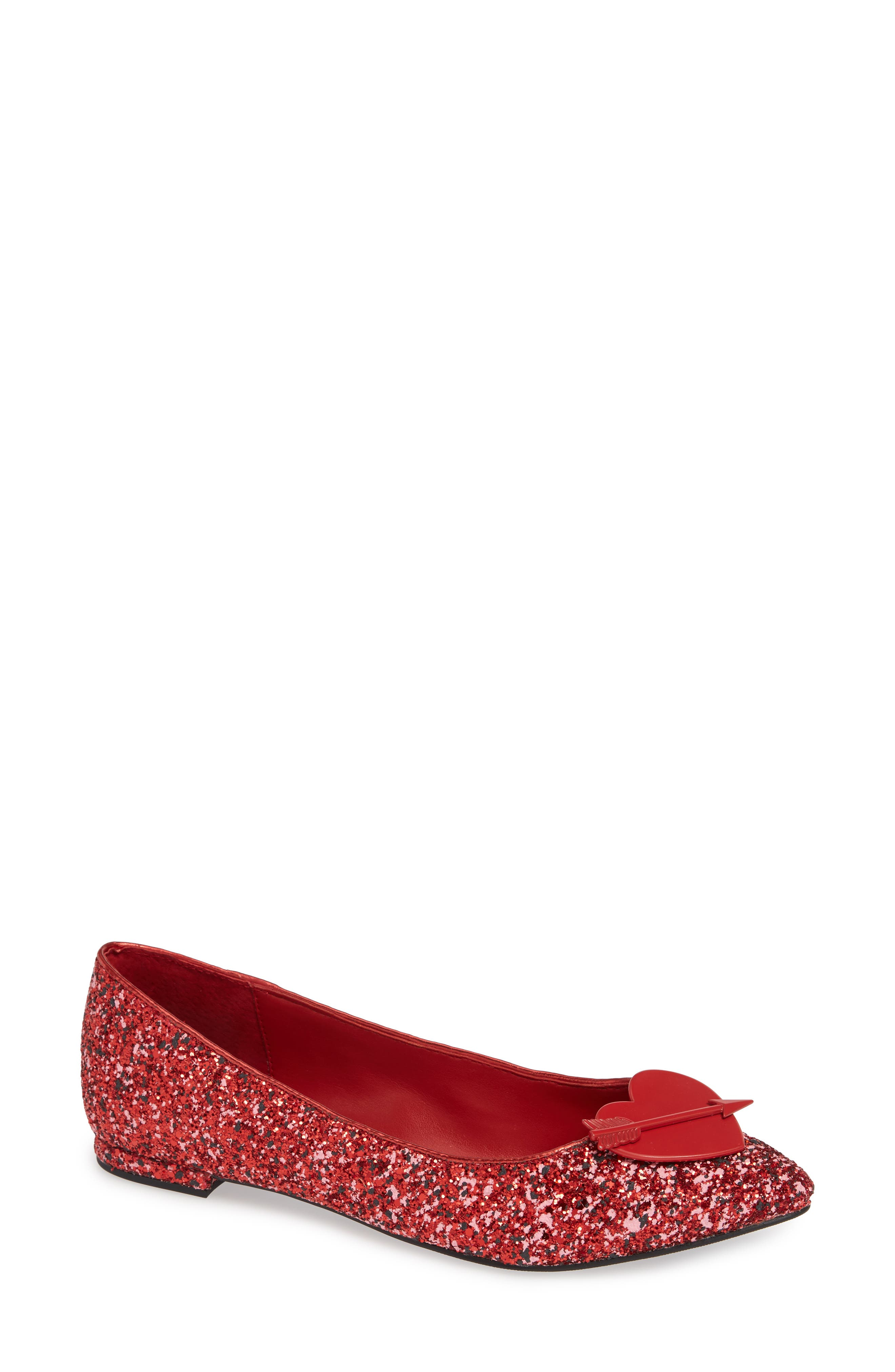 Cupid Heart Flat, Main, color, RED