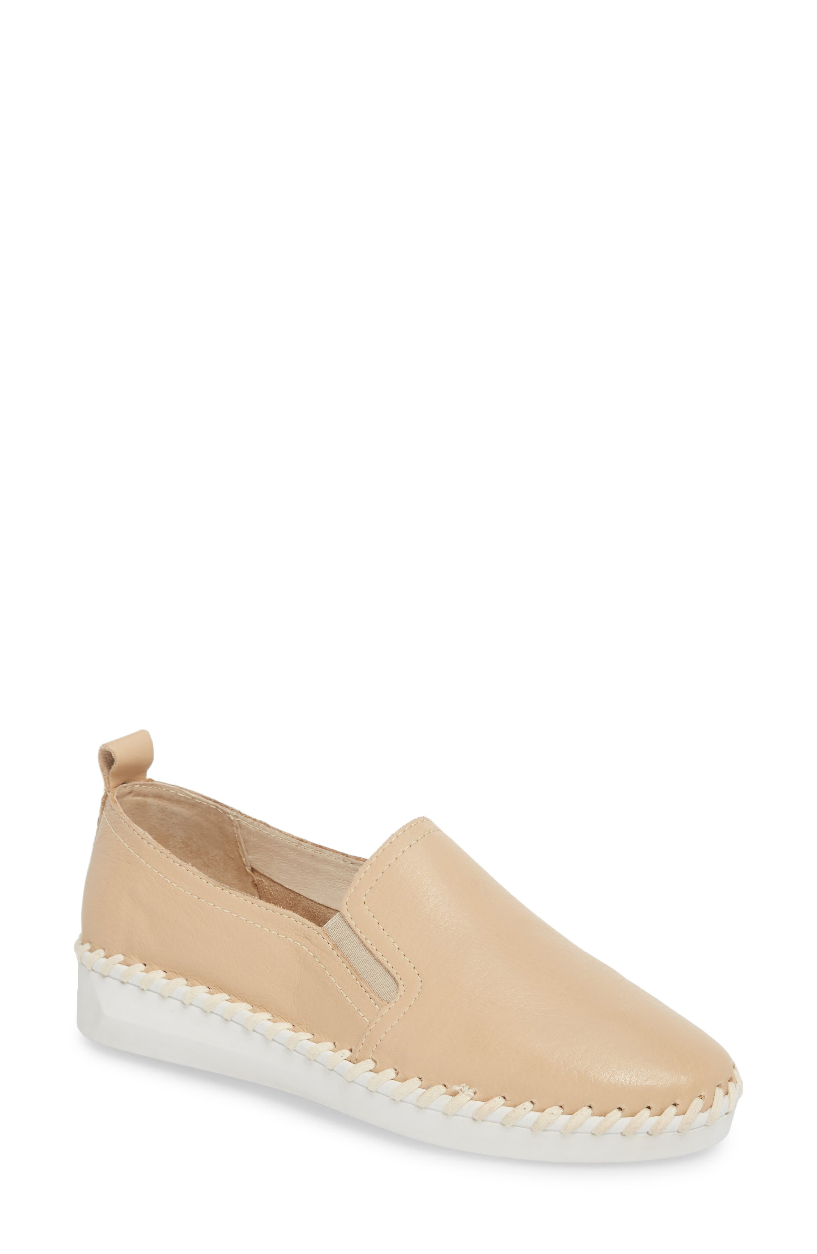 TW85 Slip-On Sneaker,                             Main thumbnail 1, color,                             NUDE LEATHER