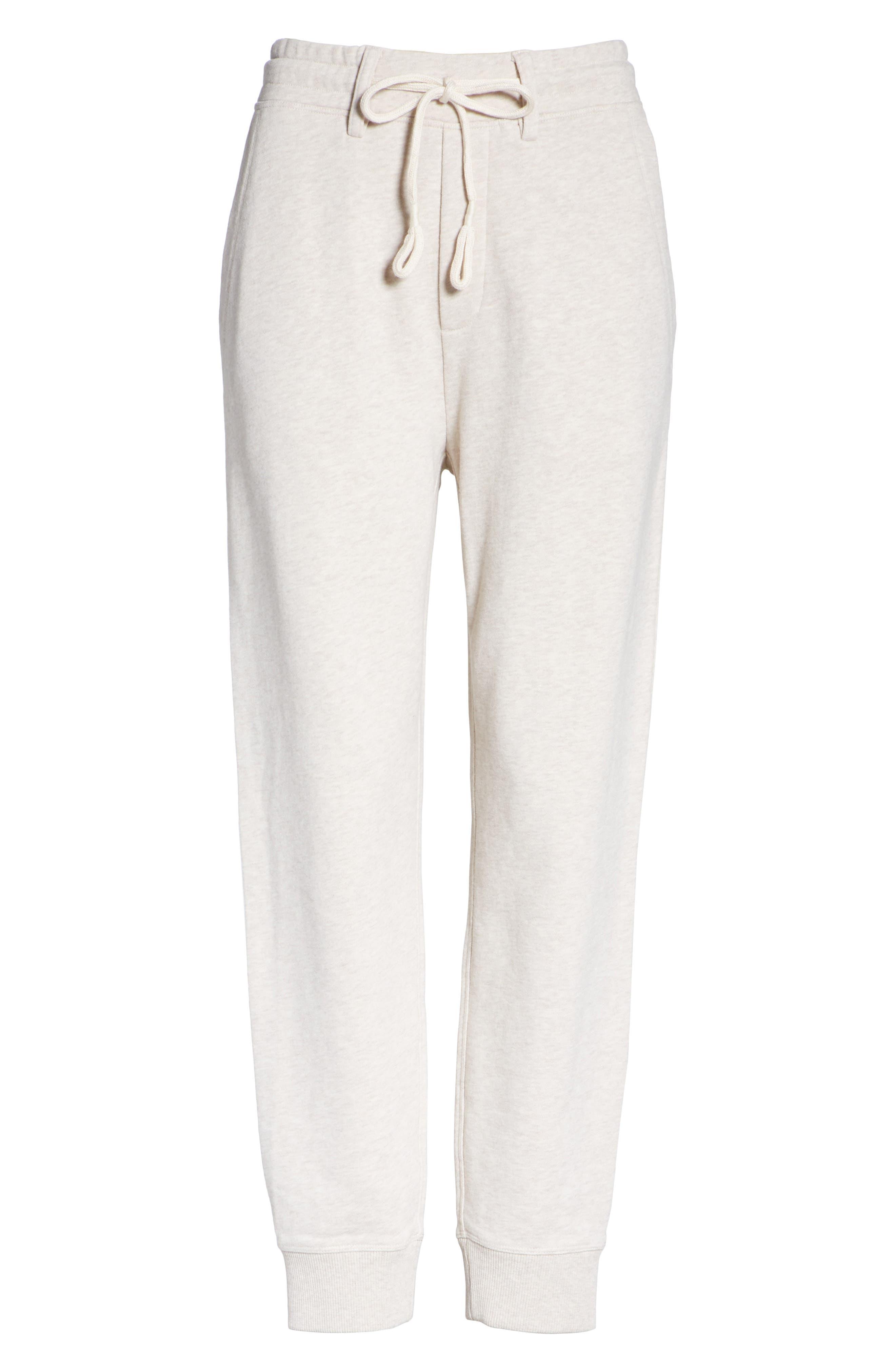 Cotton Drawstring Sweatpants,                             Alternate thumbnail 6, color,