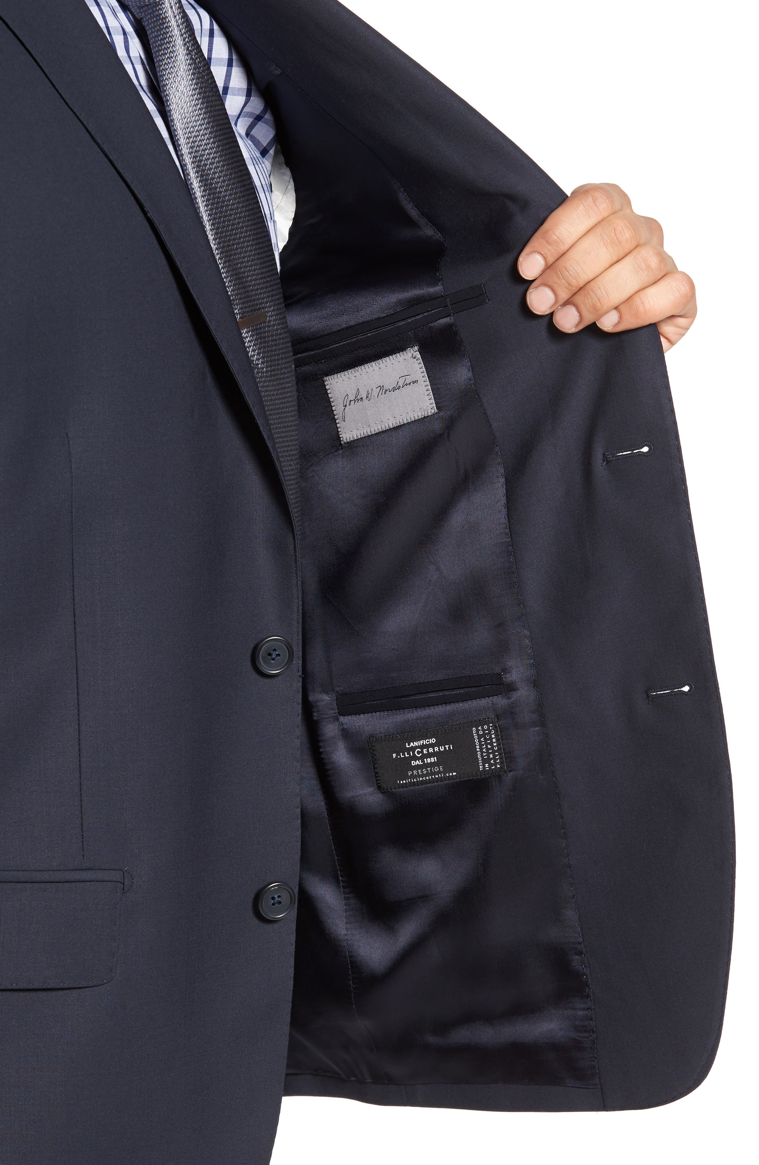 Classic Fit Solid Wool Suit,                             Alternate thumbnail 24, color,