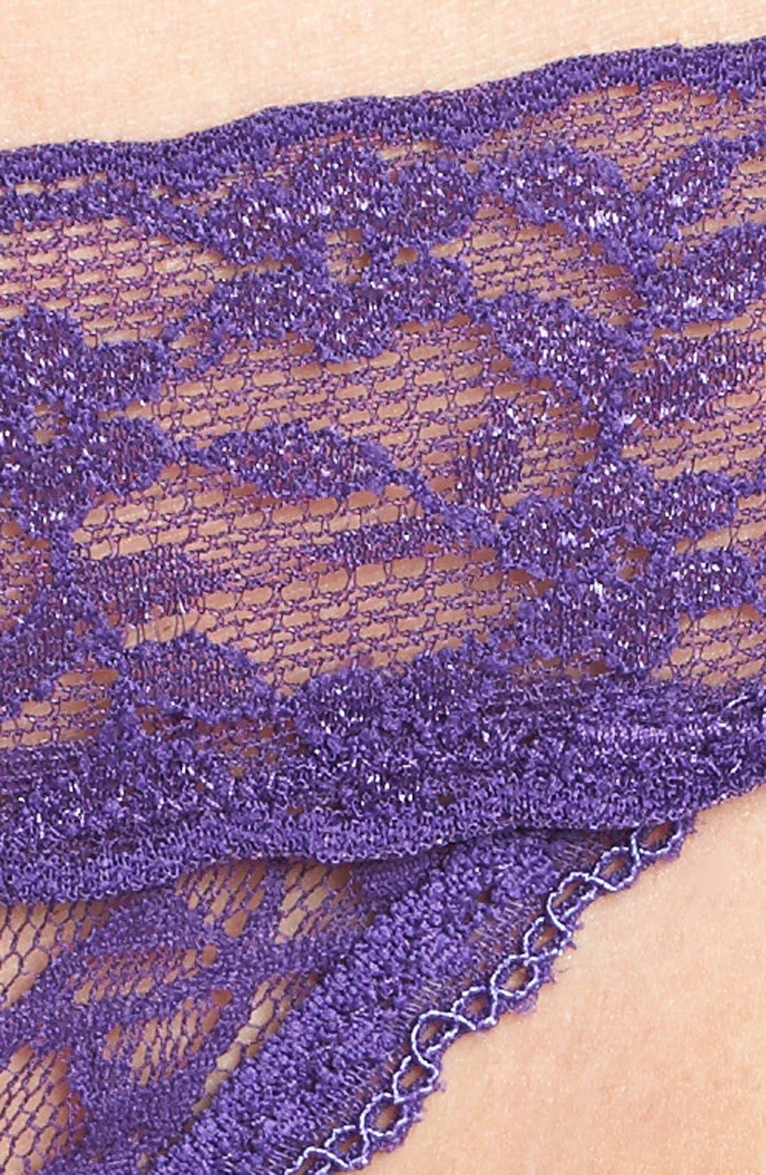 Lace Waist Thong,                             Alternate thumbnail 28, color,