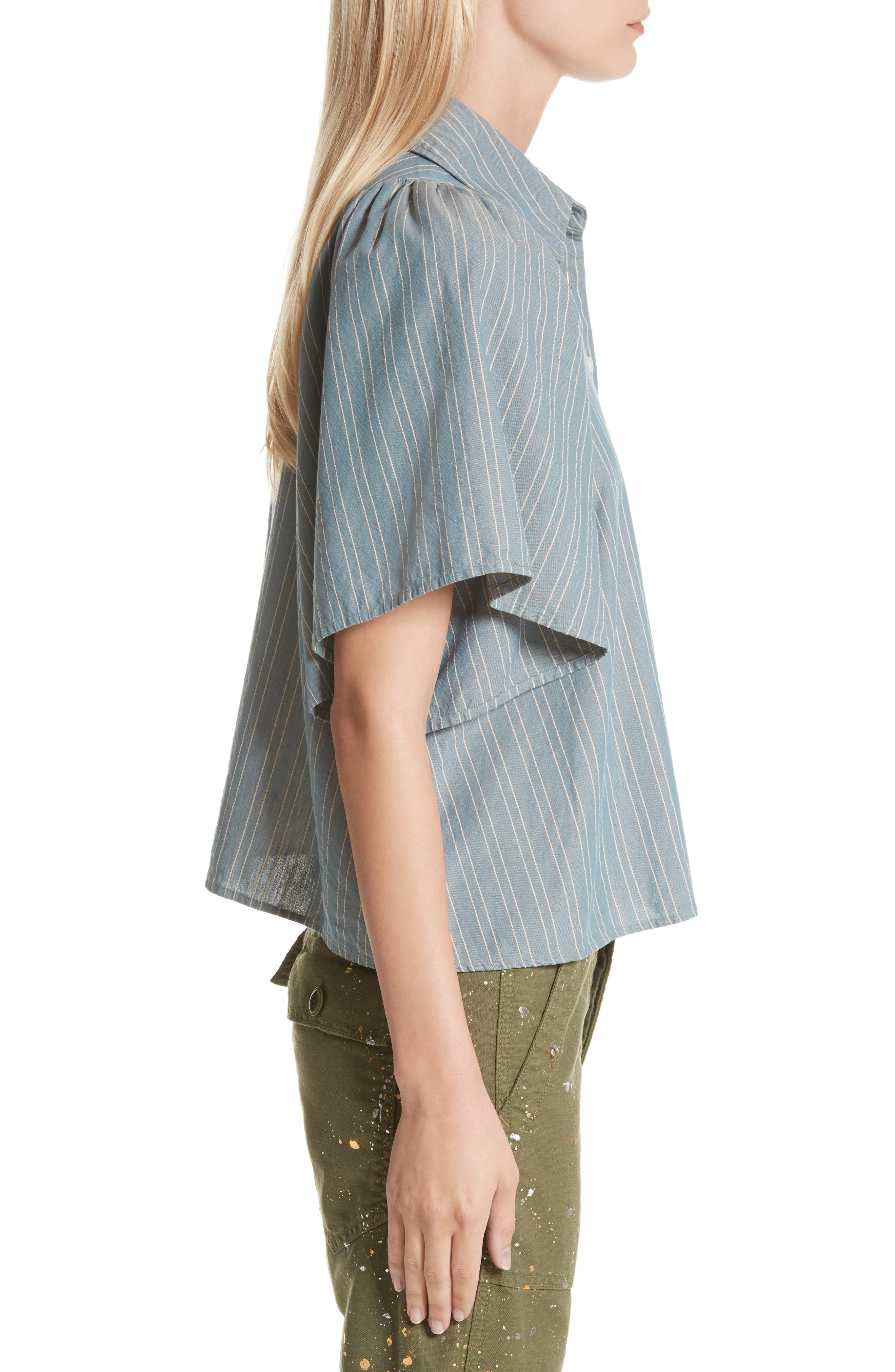 The Butterfly Button Up Shirt,                             Alternate thumbnail 3, color,                             407