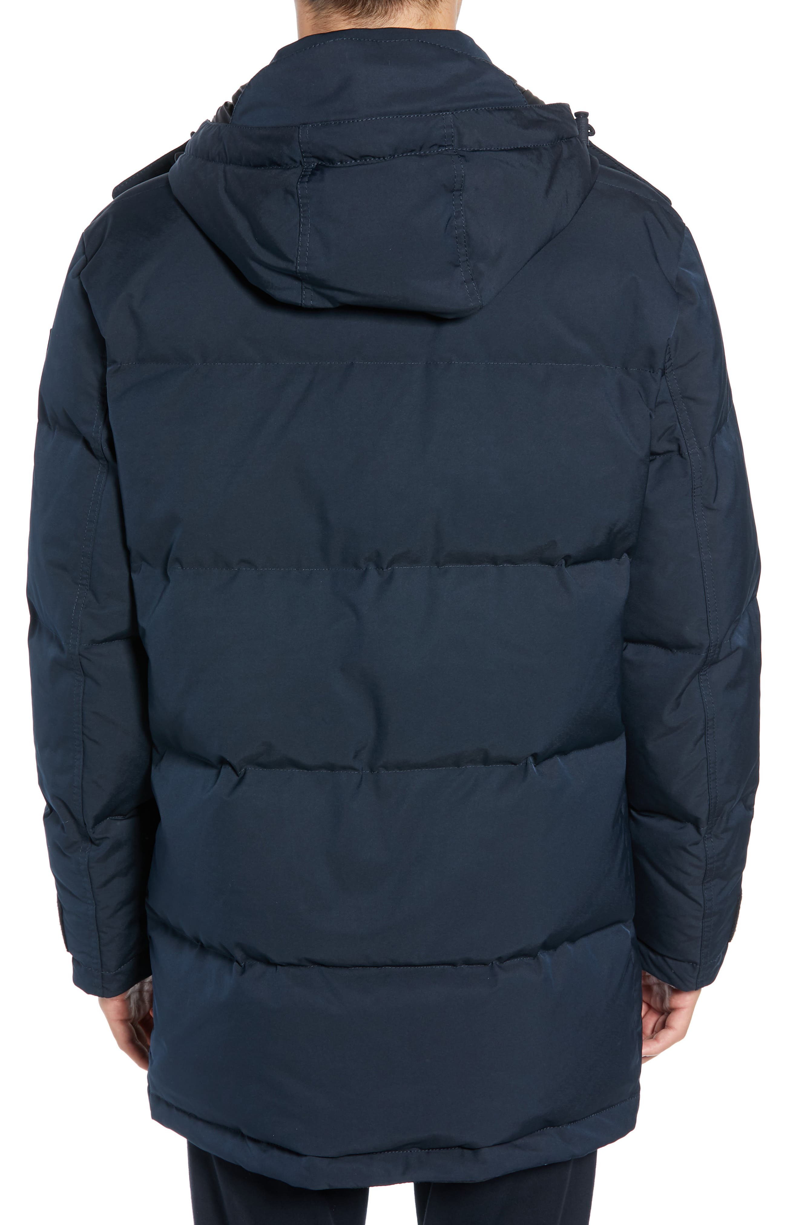 Onek Regular Fit Twill Puffer Jacket,                             Alternate thumbnail 2, color,                             BLUE