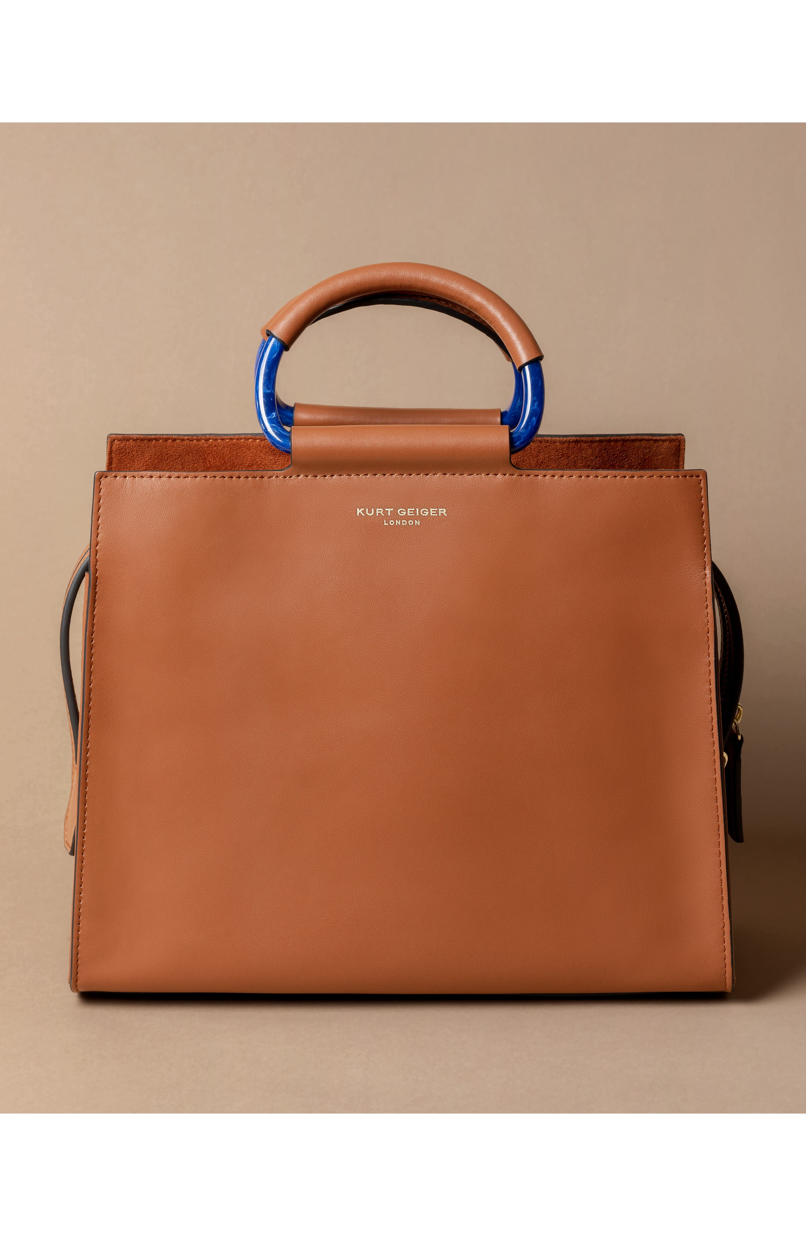 Harriet Leather Box Tote,                             Alternate thumbnail 7, color,