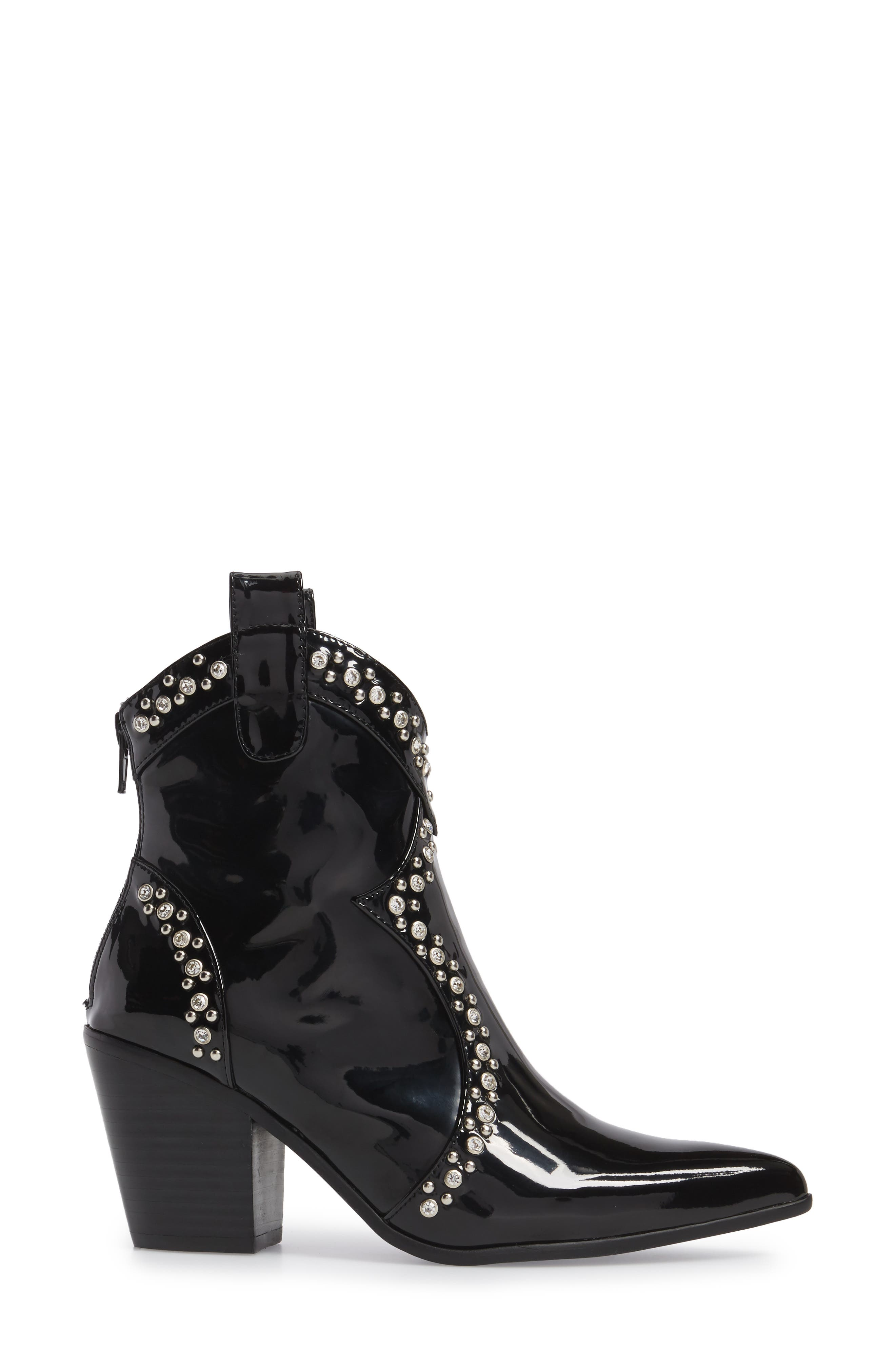 Nightwing Crystal Stud Bootie,                             Alternate thumbnail 3, color,                             002