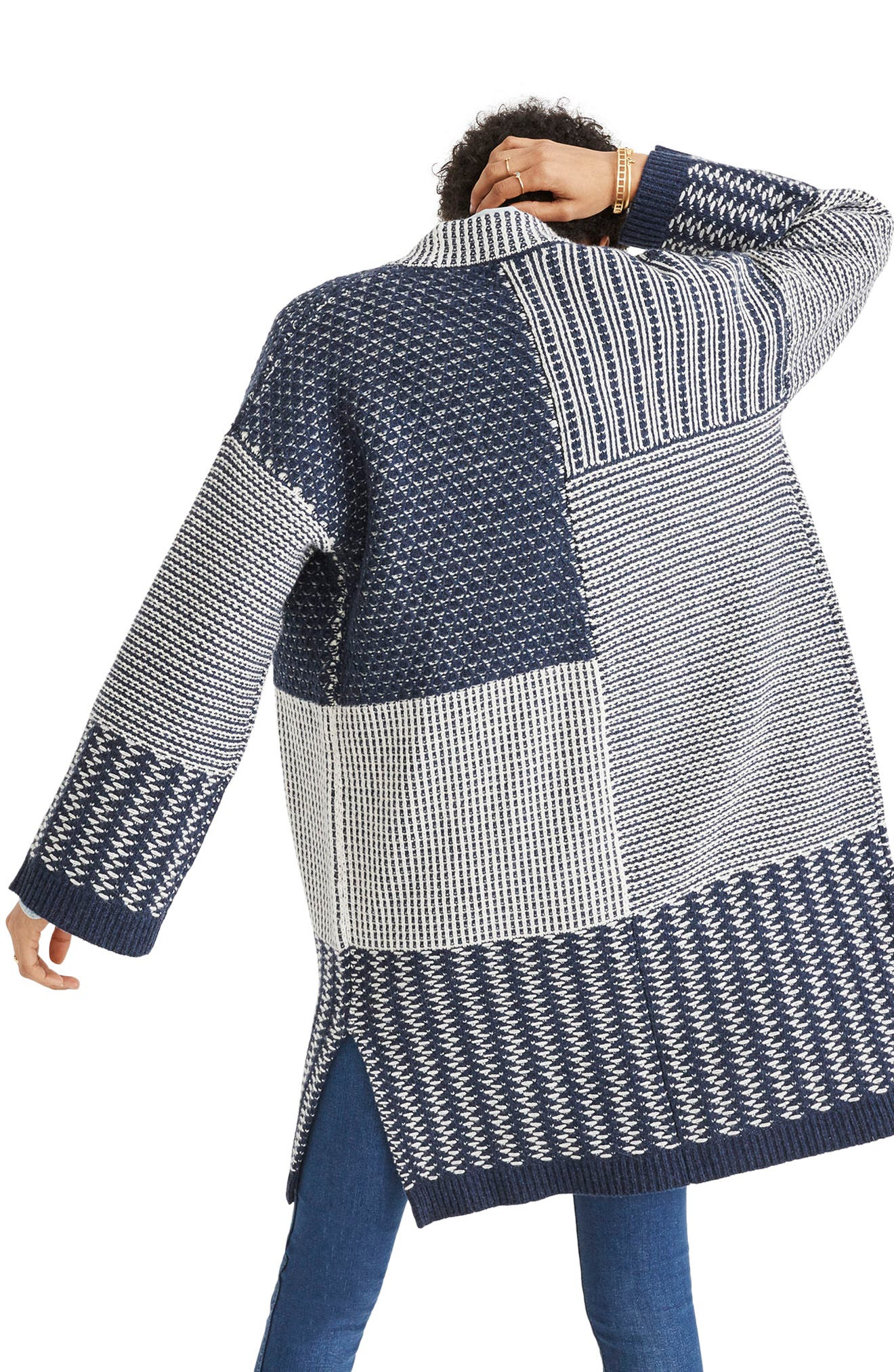 Patchwork Collage Cardigan,                             Alternate thumbnail 2, color,                             490