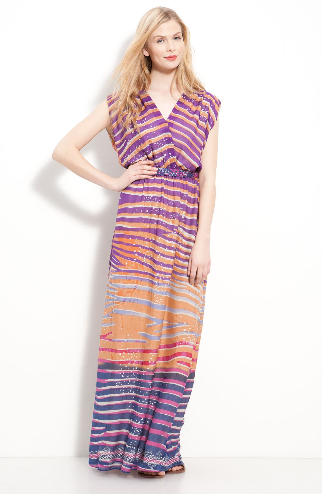 'Jaclyn' Silk Chiffon Maxi Dress, Main, color, 650