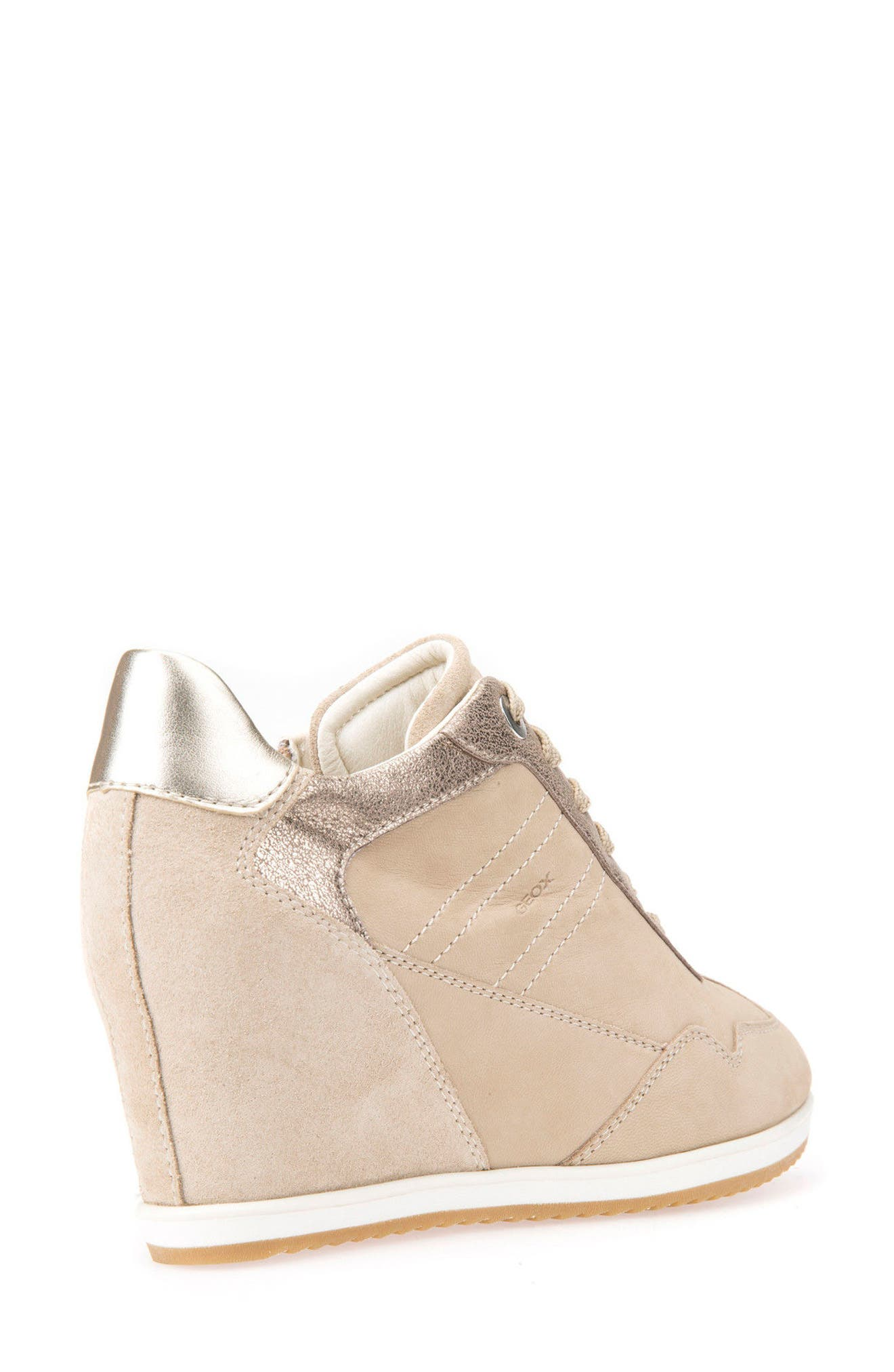 Illusion 34 Wedge Sneaker,                             Alternate thumbnail 2, color,                             SAND LEATHER