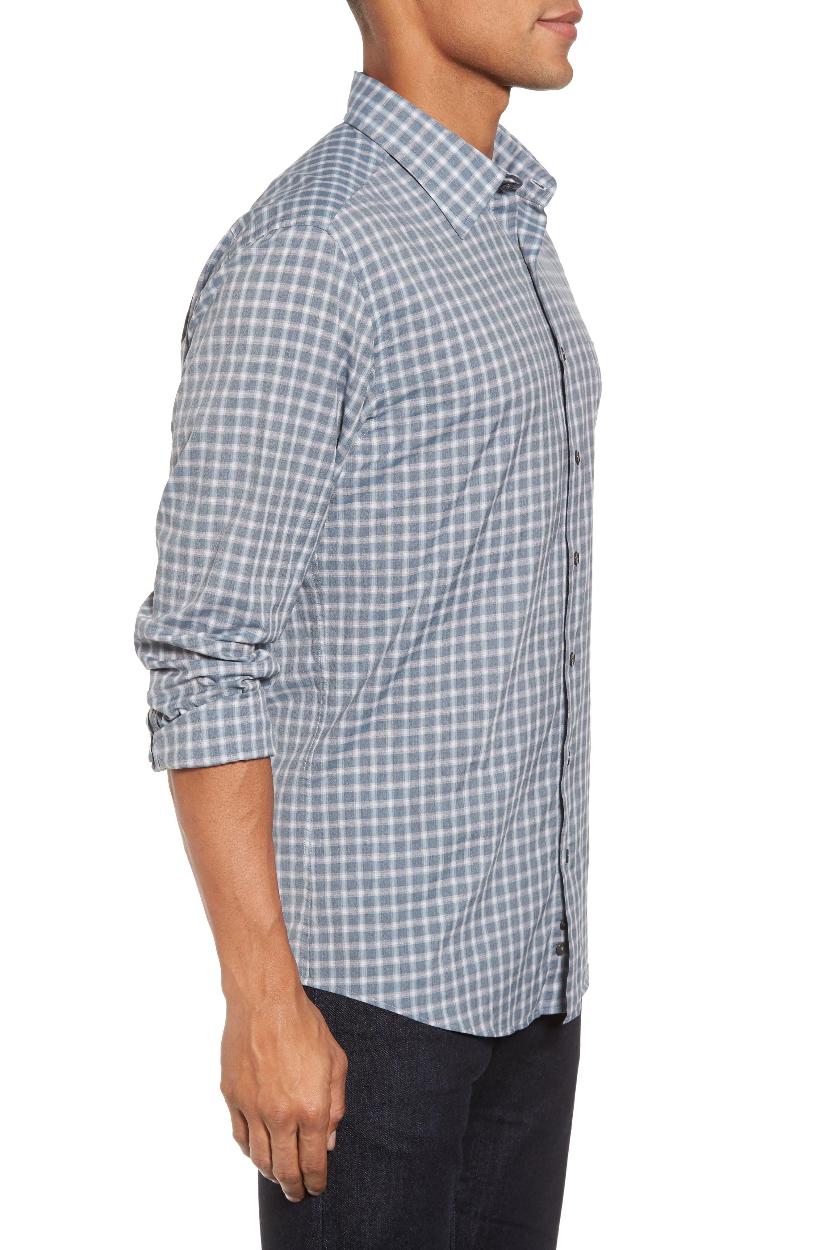 Larkins Way Regular Fit Check Sport Shirt,                             Alternate thumbnail 3, color,