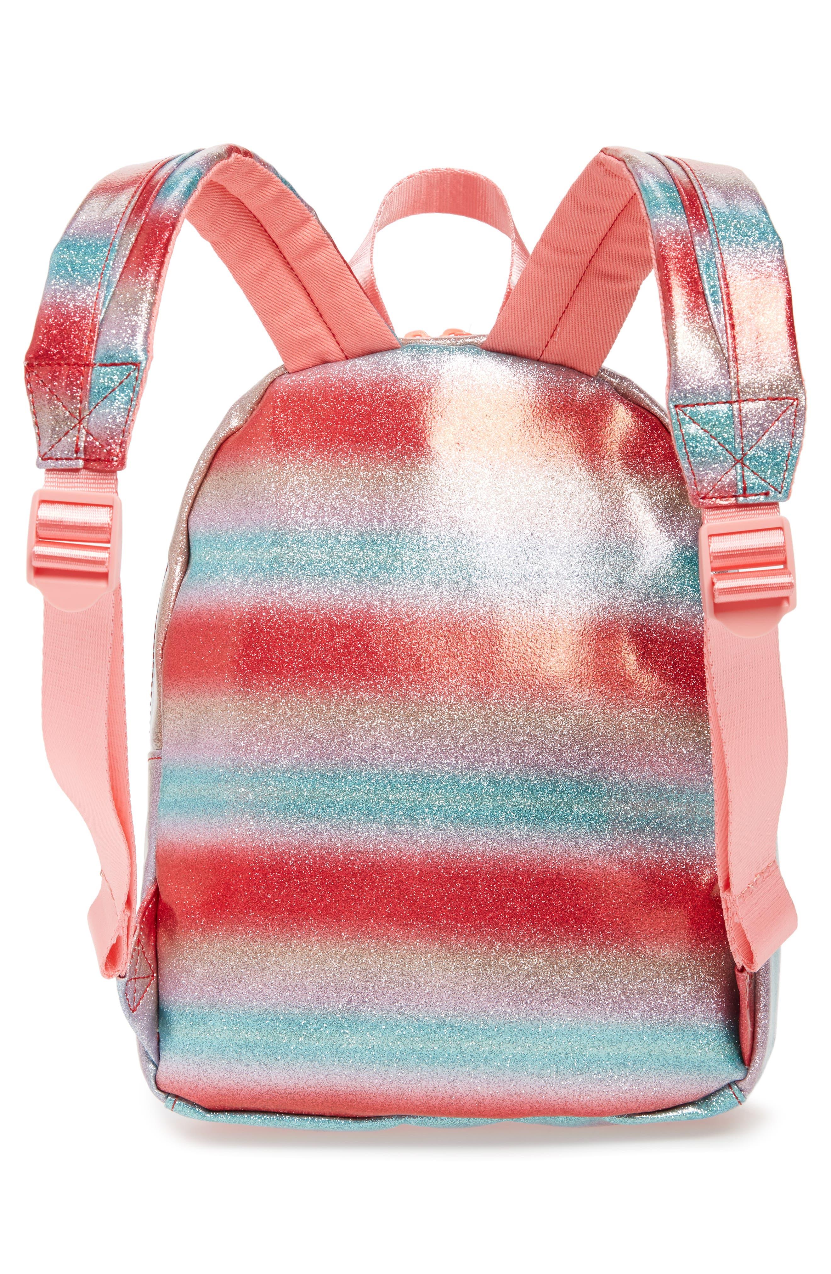 Glitter Mini Backpack,                             Alternate thumbnail 2, color,                             RAINBOW
