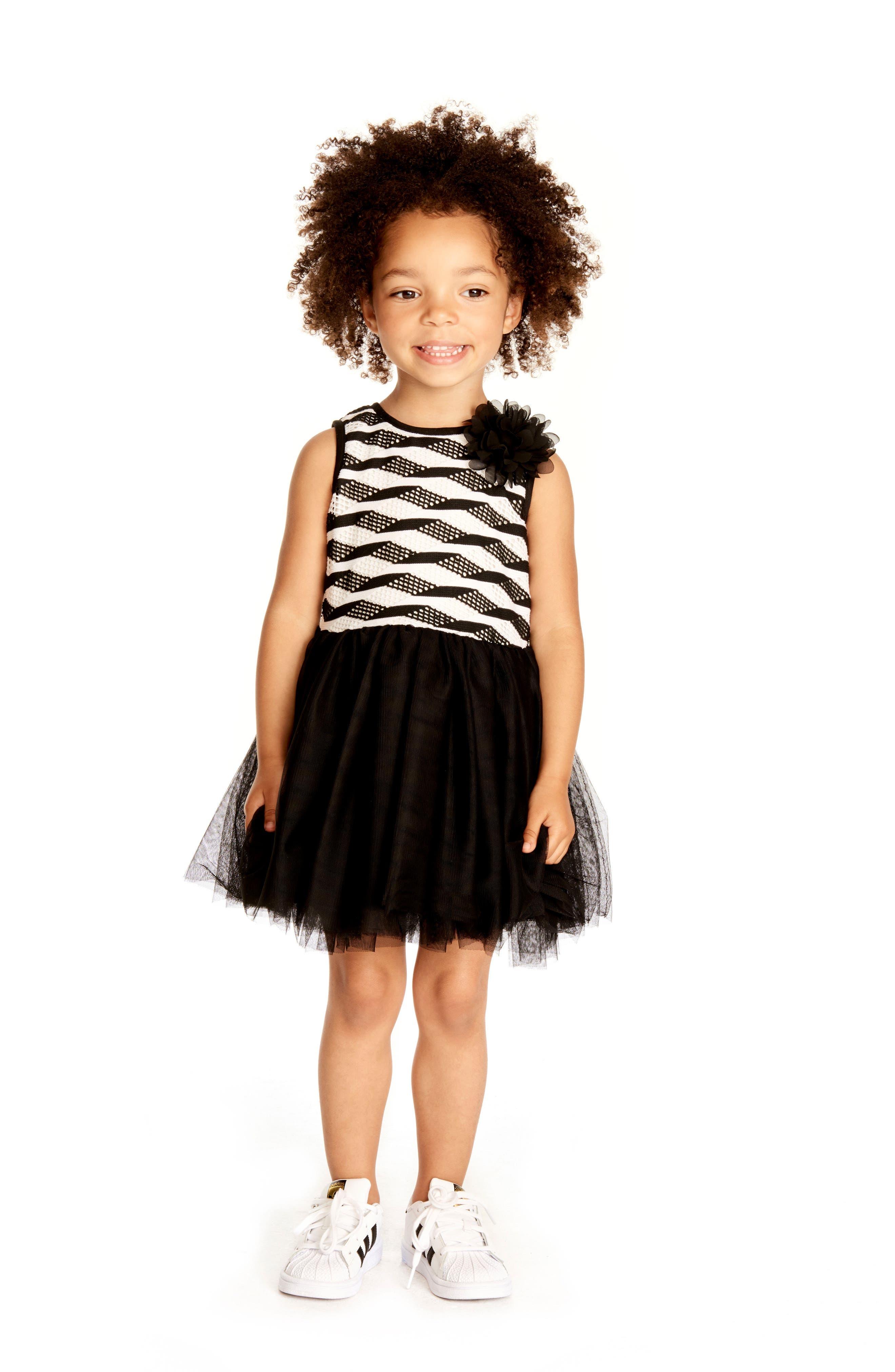 Stripe Tutu Dress,                             Alternate thumbnail 4, color,                             005