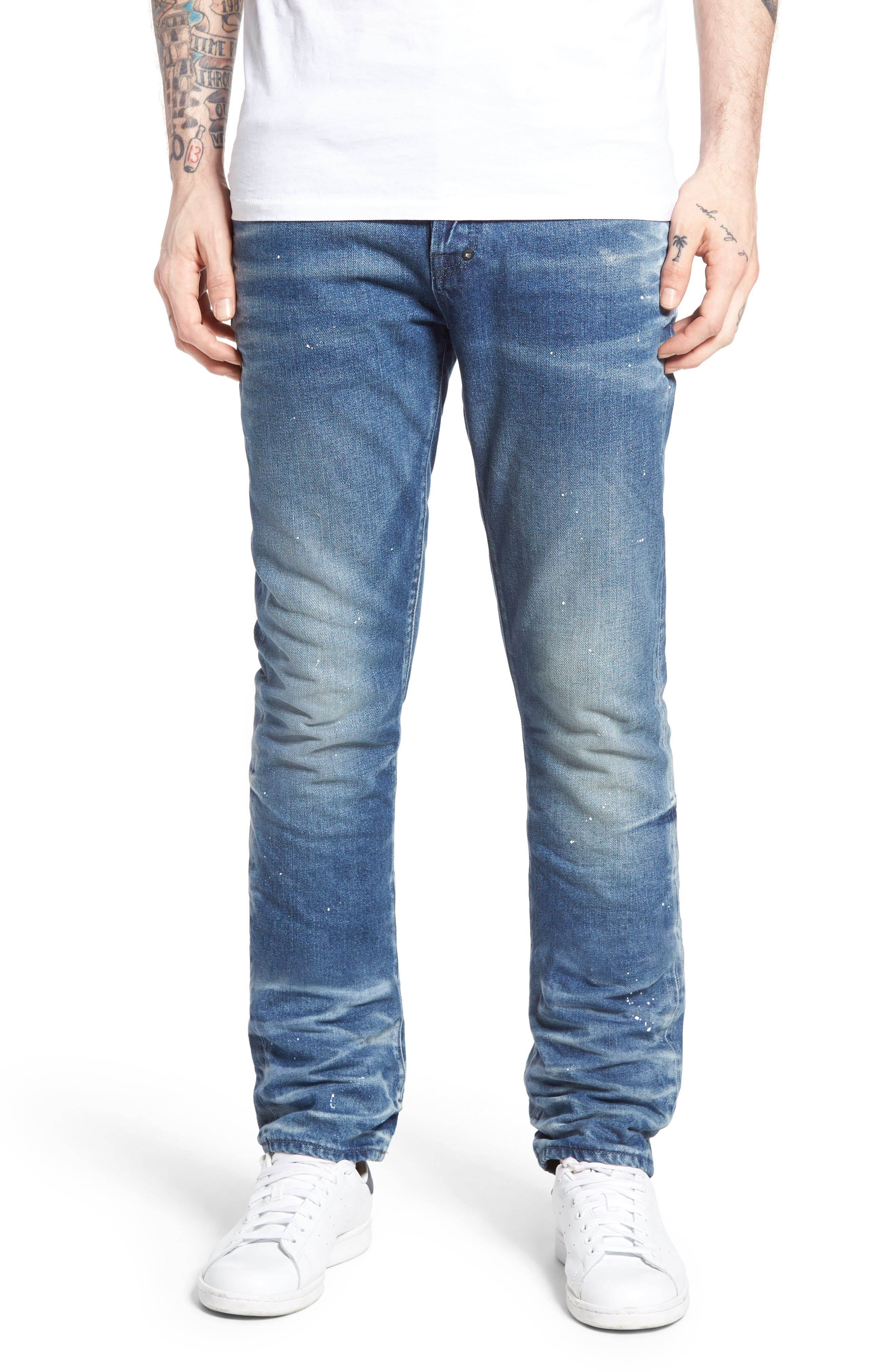 Demon Slim Straight Leg Jeans,                             Main thumbnail 1, color,