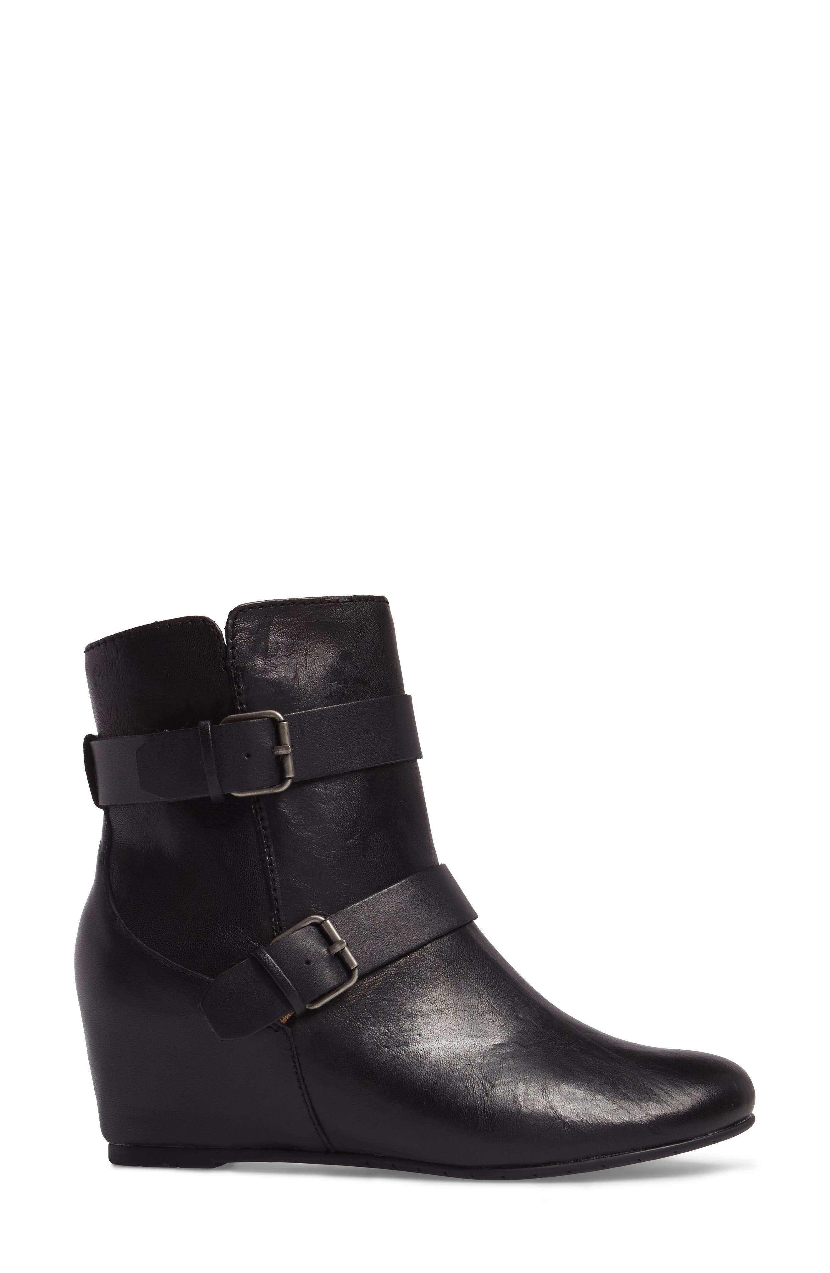 Ramika Wedge Bootie,                             Alternate thumbnail 3, color,                             001