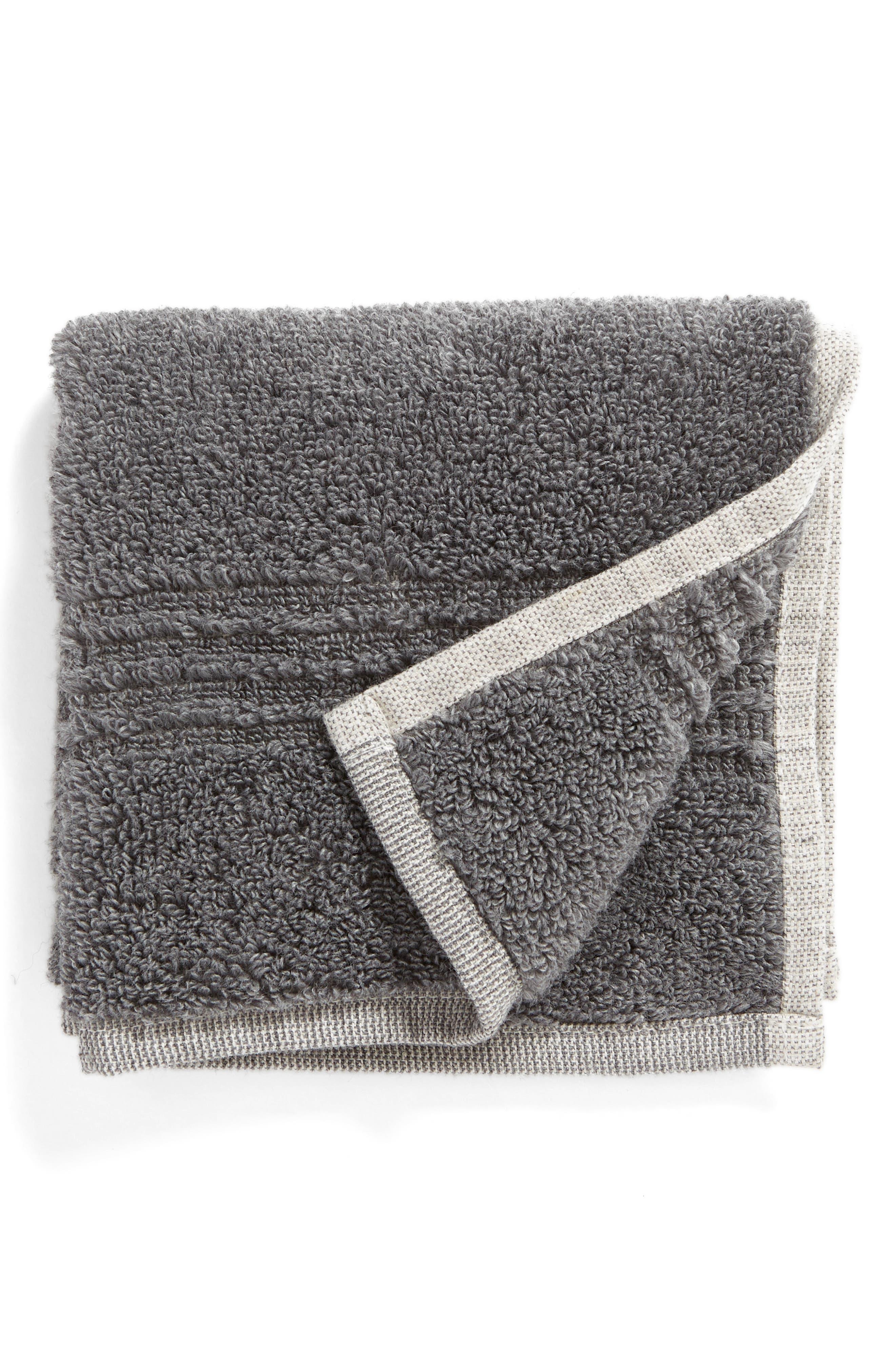Organic Hydrocotton Washcloth,                         Main,                         color, GREY PEARL