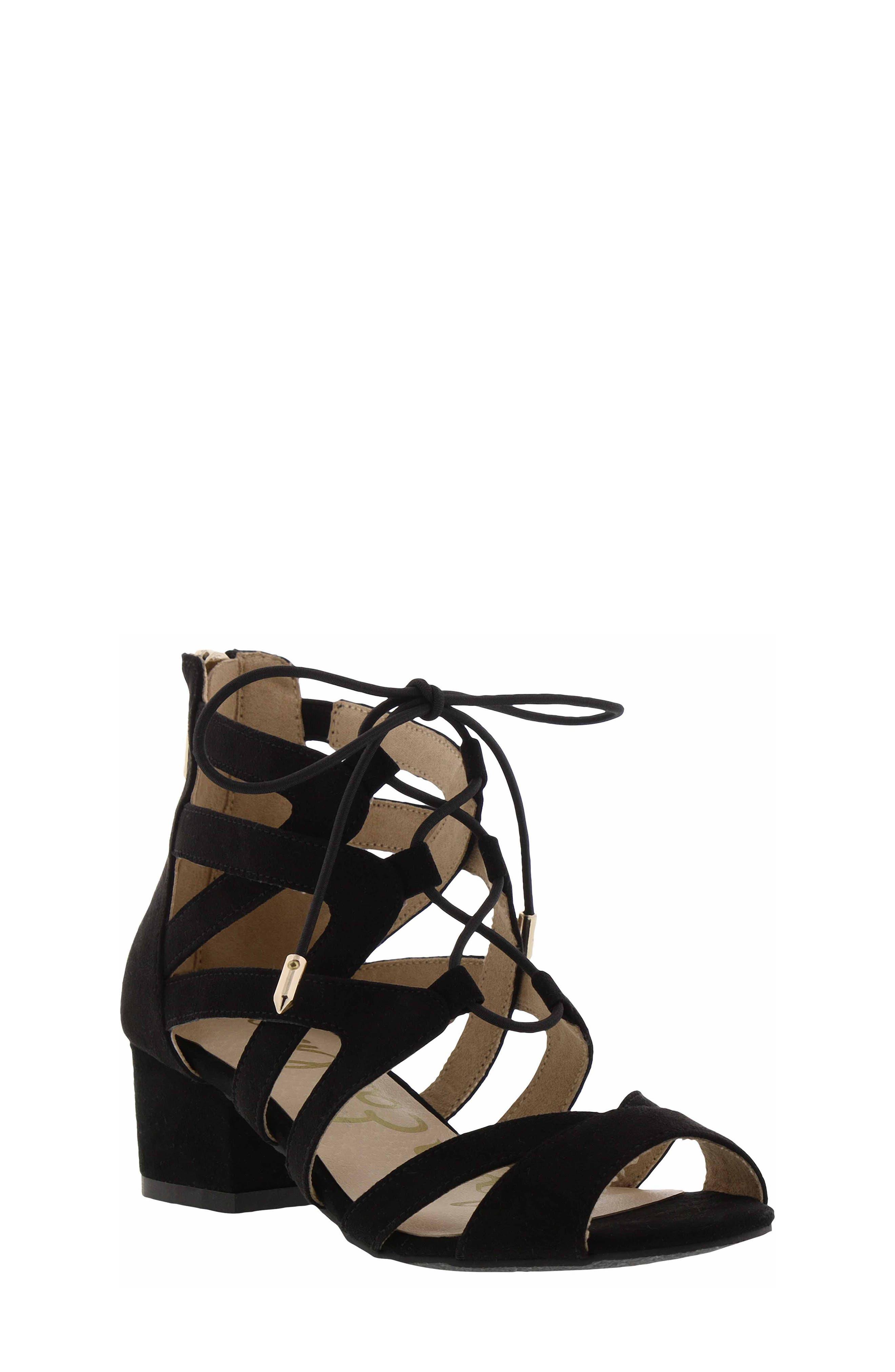 Evelyn Gladiator Sandal,                         Main,                         color, BLACK