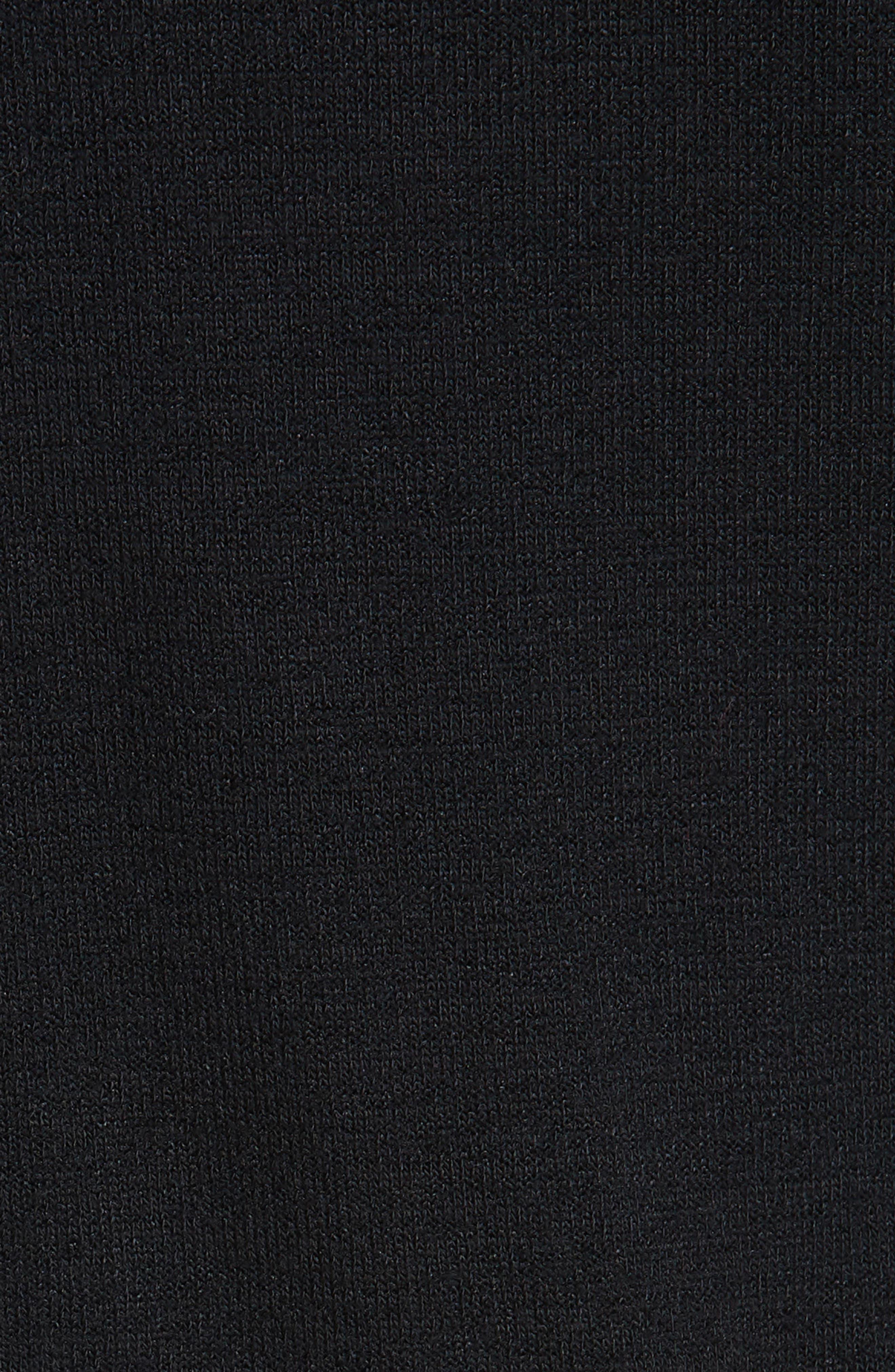 Landon Turtleneck Minidress,                             Alternate thumbnail 5, color,                             BLACK