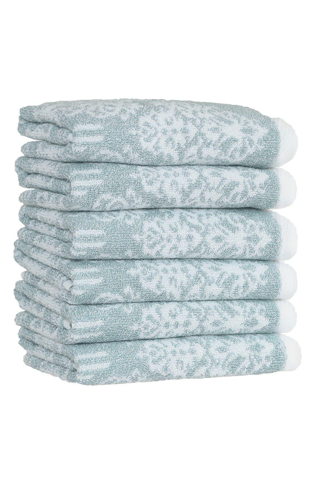 Linum 'Gioia' Turkish Cotton Washcloths,                             Main thumbnail 3, color,