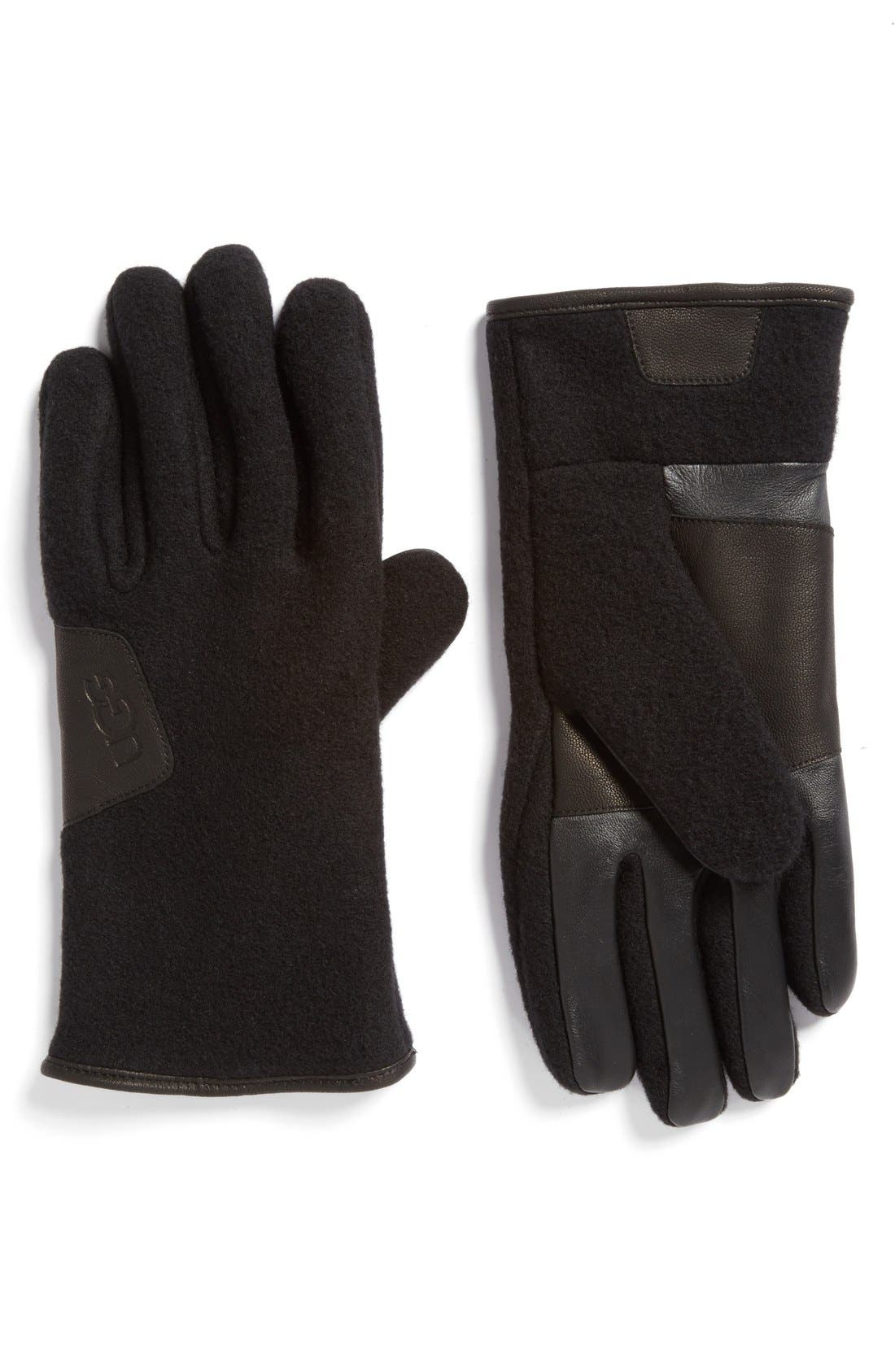 Wool Blend Tech Gloves,                         Main,                         color, 001