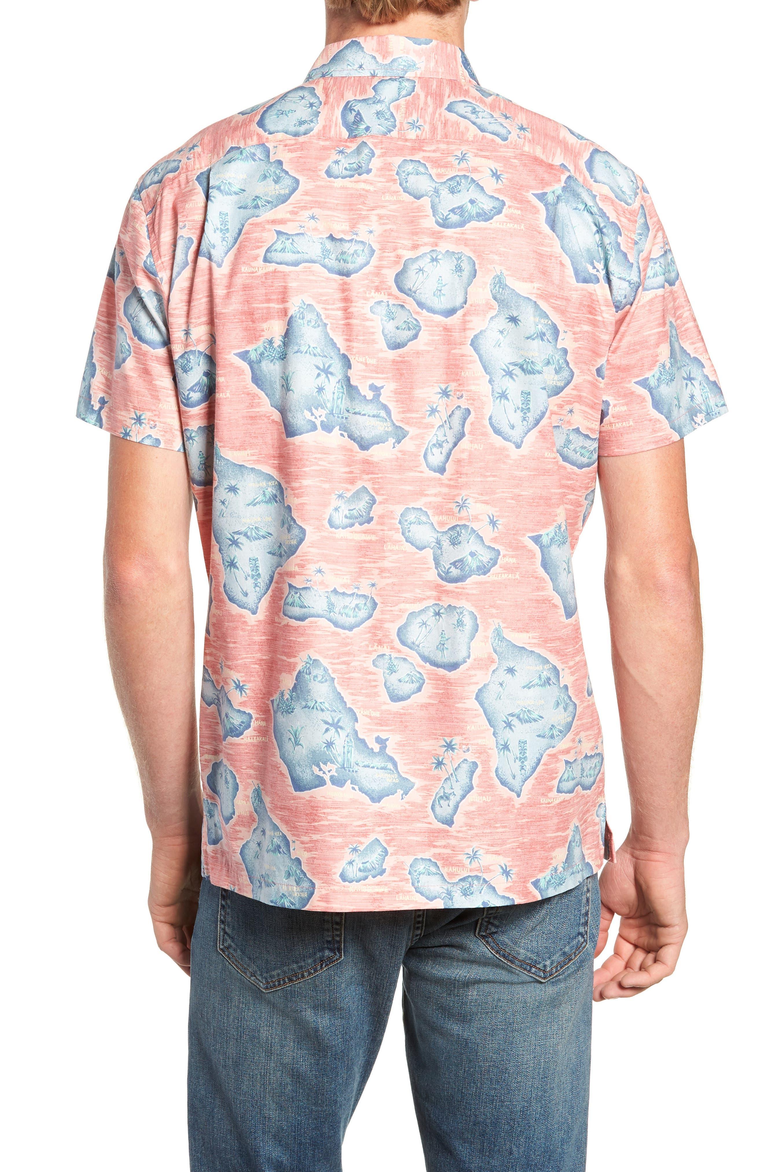Sandwich Isle Regular Fit Sport Shirt,                             Alternate thumbnail 3, color,                             HAWAIIAN SALT