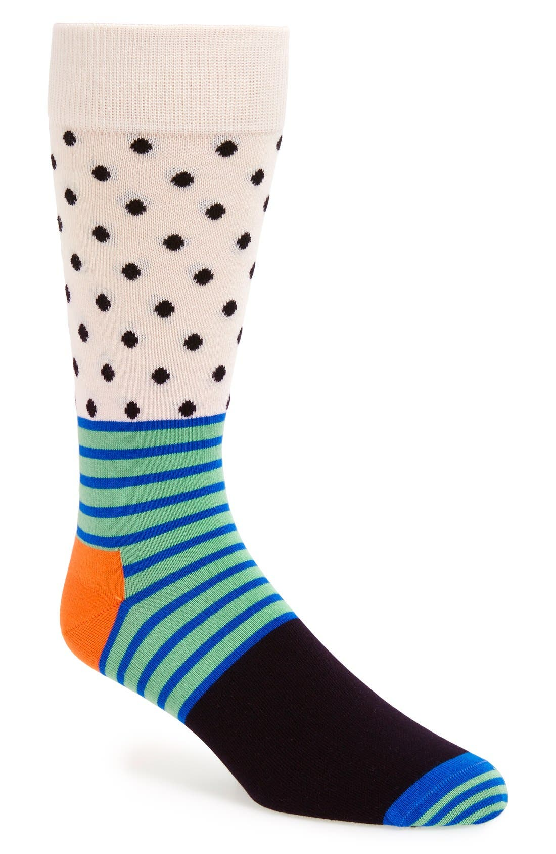 Stripe & Dot Socks,                             Main thumbnail 1, color,                             007