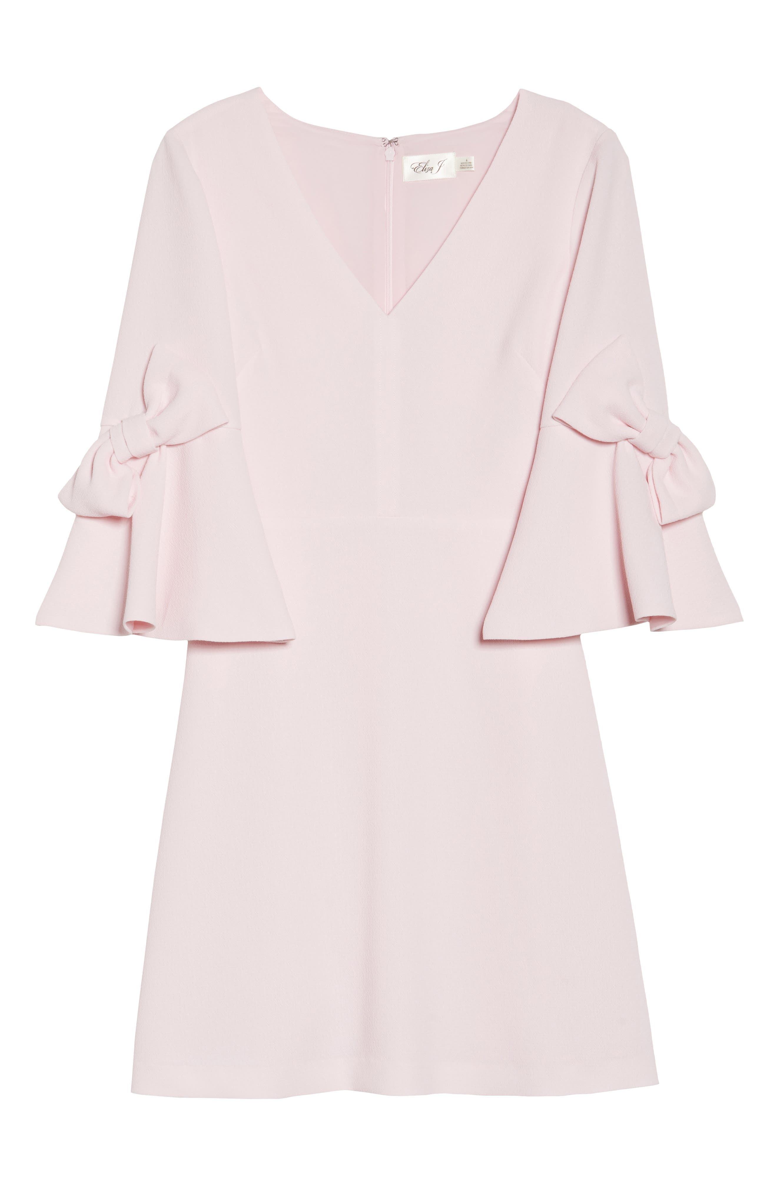 Bell Sleeve Sheath Dress,                             Alternate thumbnail 6, color,