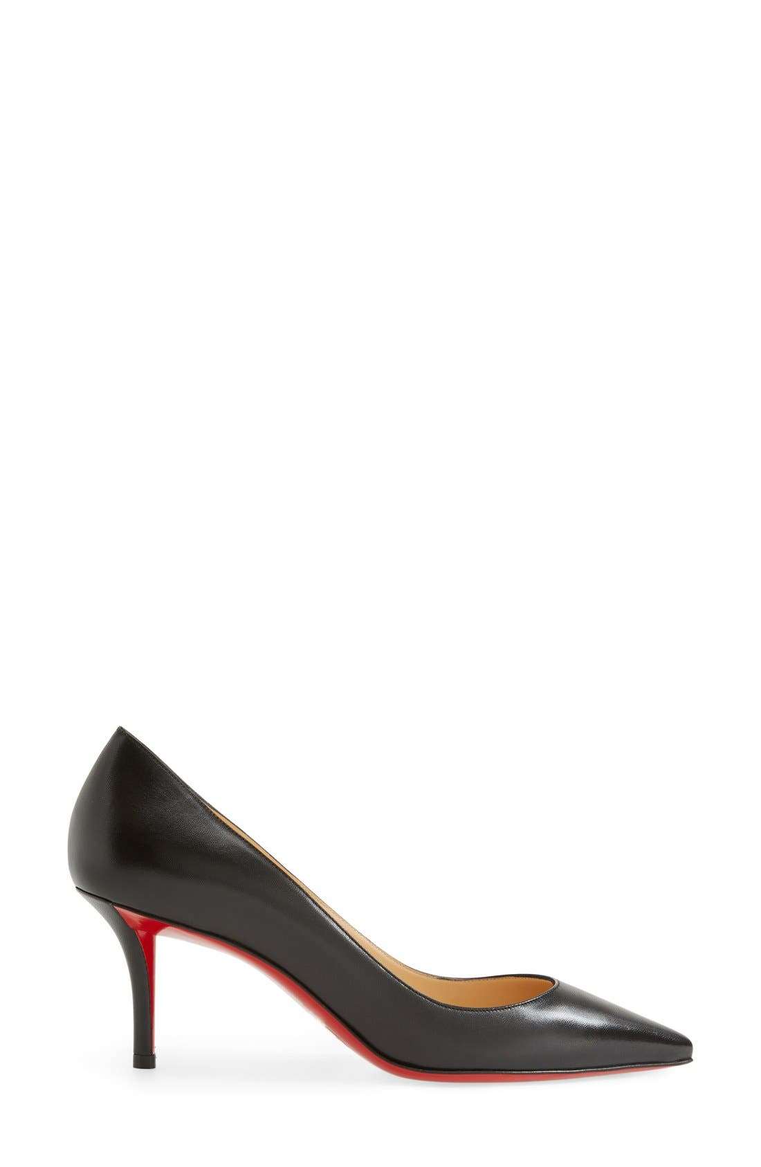 'Apostrophy' Pointy Toe Pump,                             Alternate thumbnail 4, color,                             001