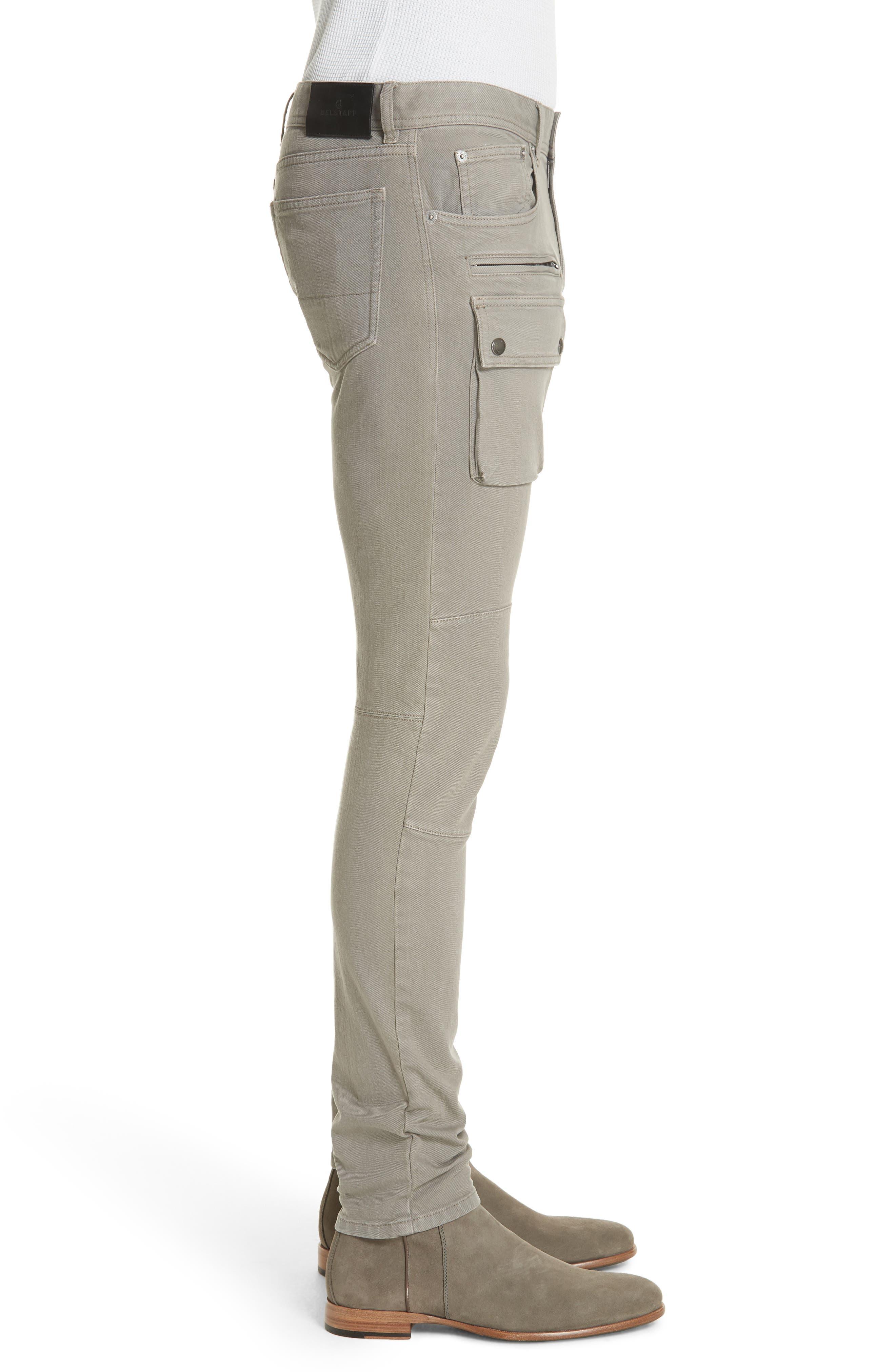 Polmont Cargo Denim Jeans,                             Alternate thumbnail 3, color,                             SMOKE GREY