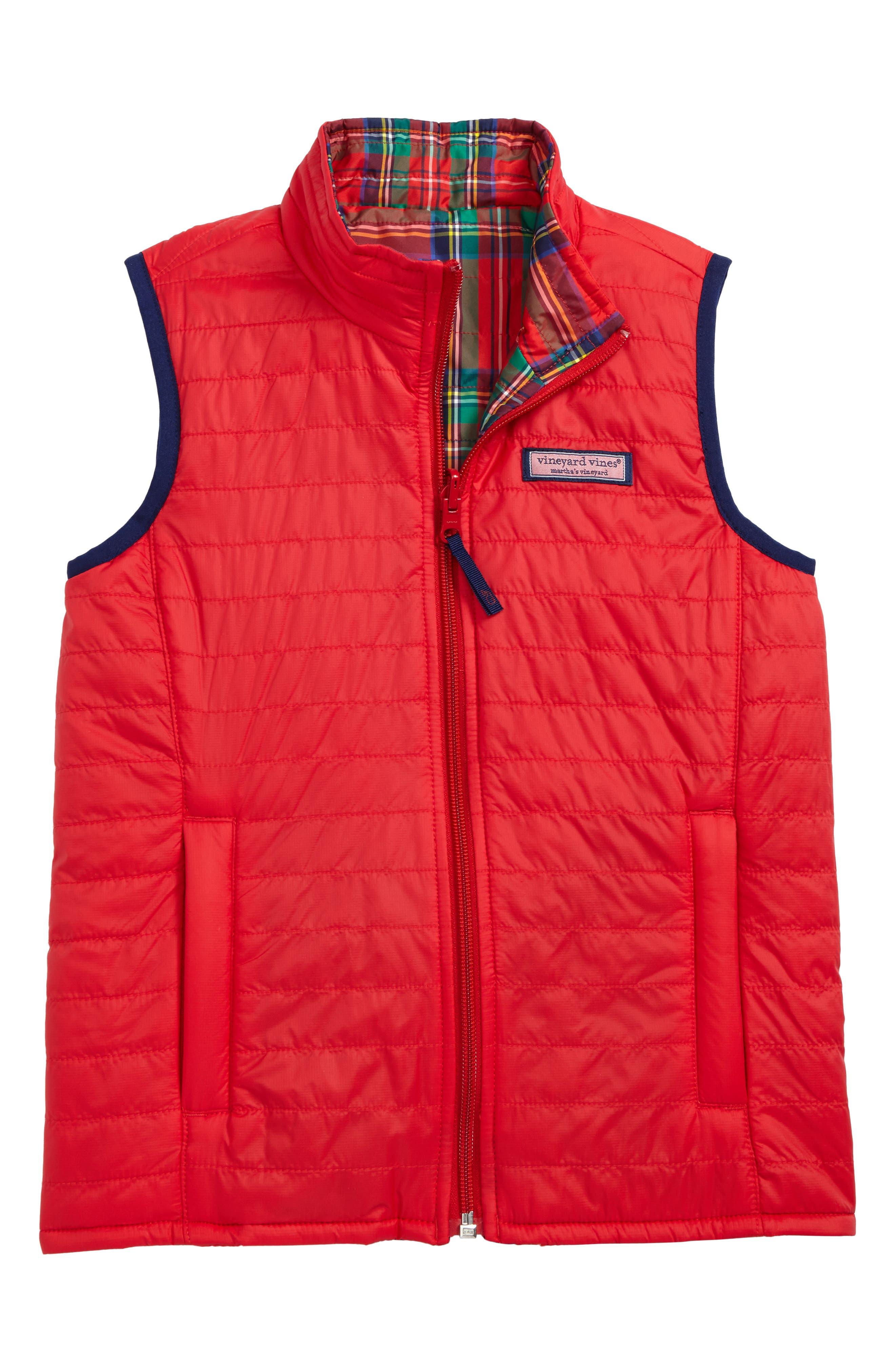 Reversible Puffer Vest,                         Main,                         color,