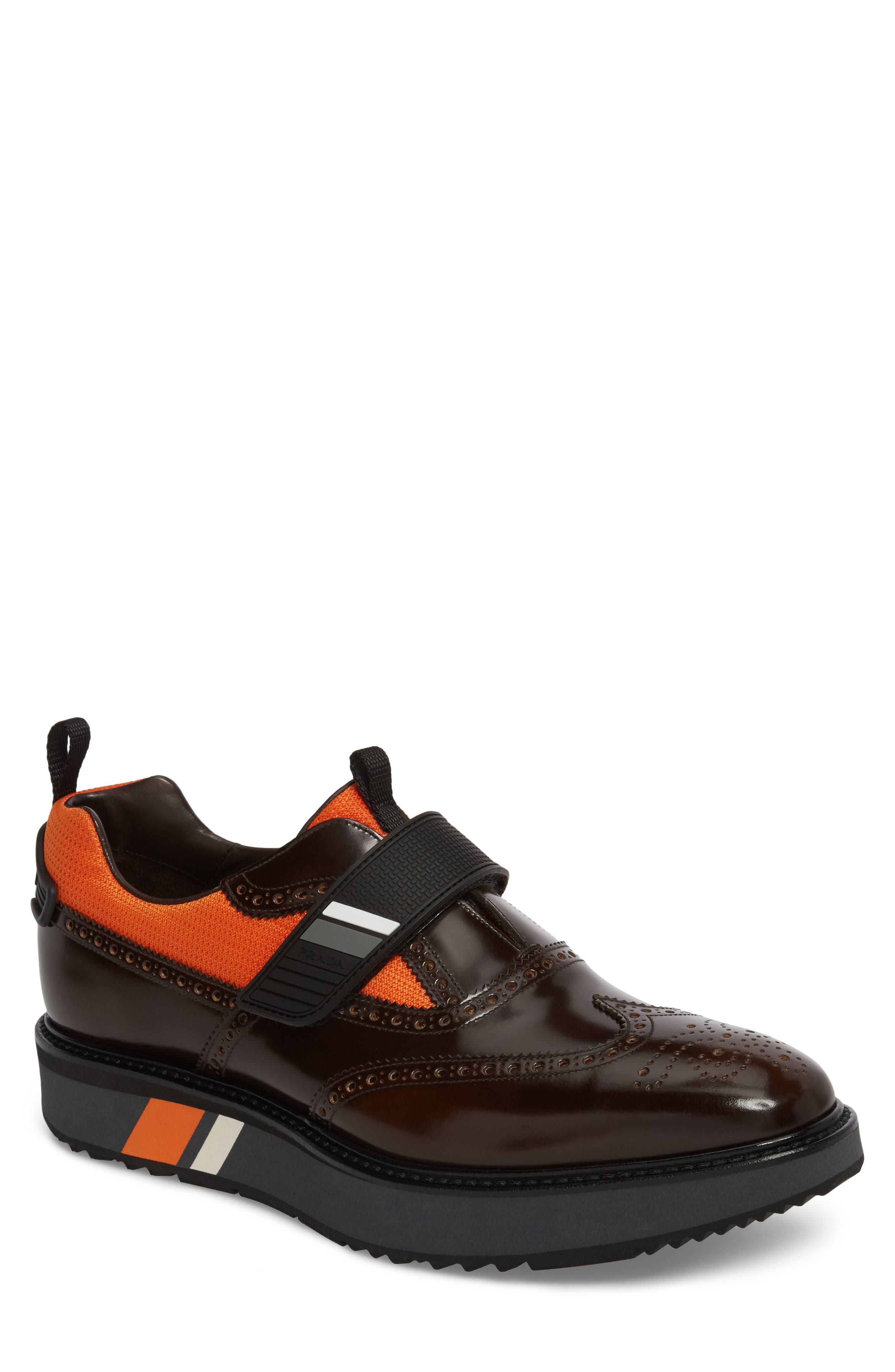 Strap Wingtip Sneaker,                         Main,                         color, 200