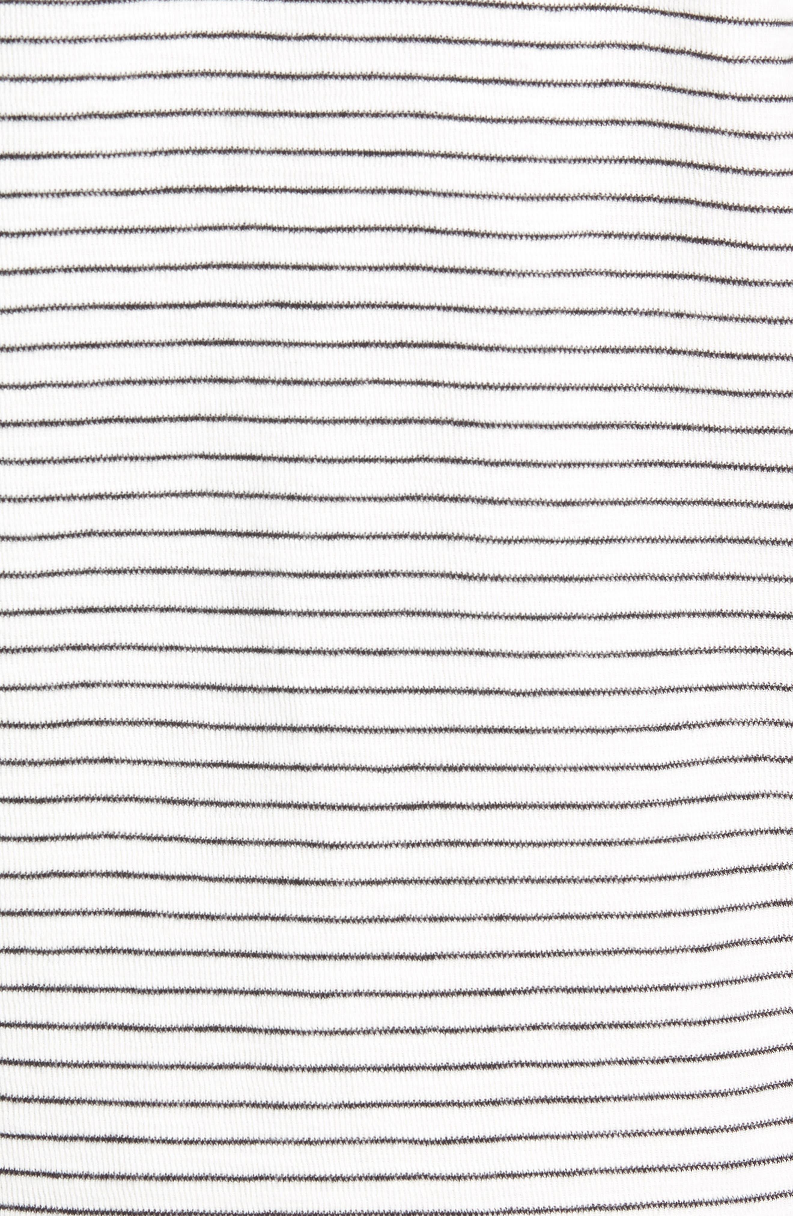 Stripe Long Sleeve Pocket T-Shirt,                             Alternate thumbnail 5, color,                             NATURAL