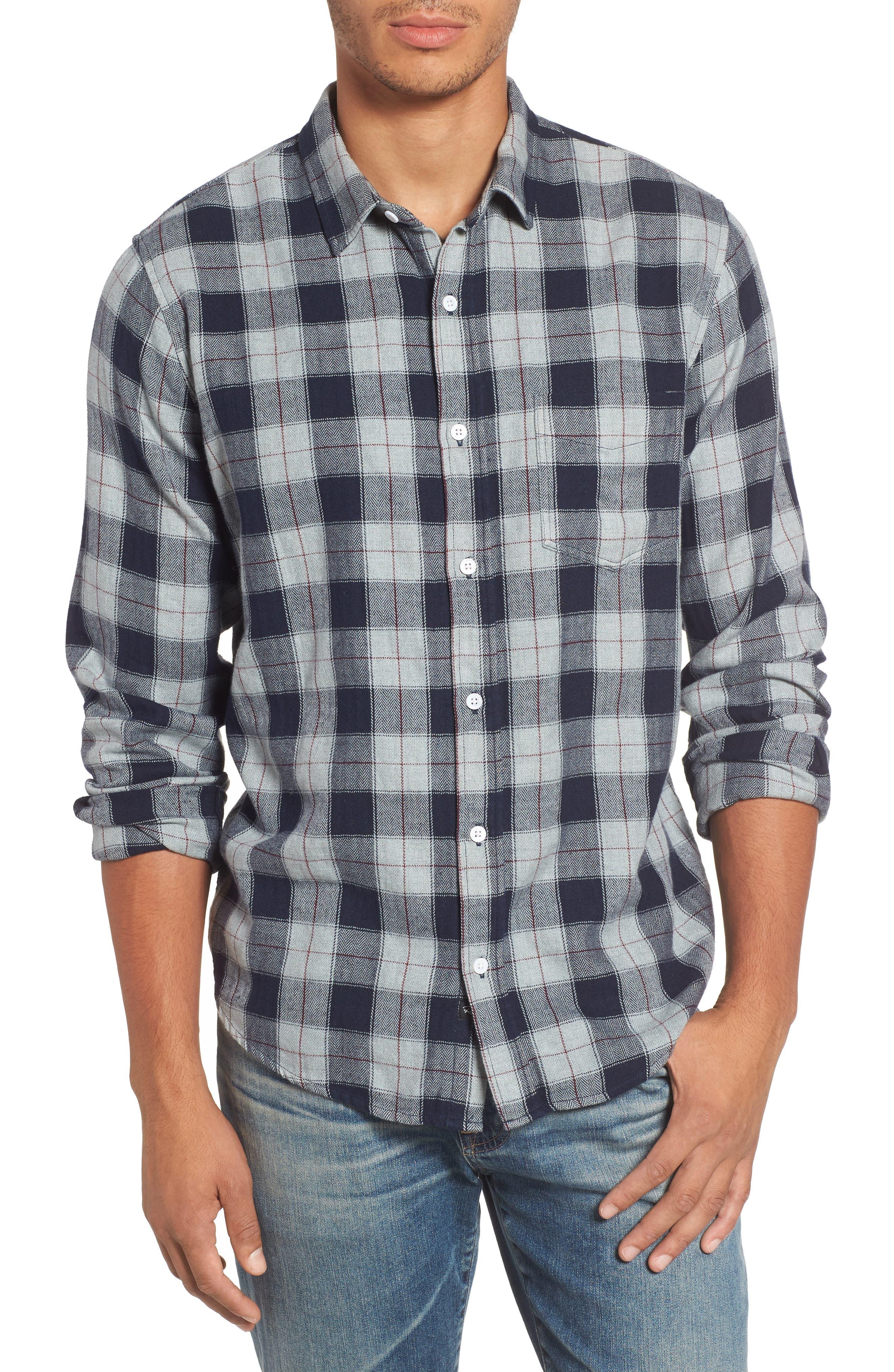 Harper Regular Fit Plaid Sport Shirt,                         Main,                         color, 071