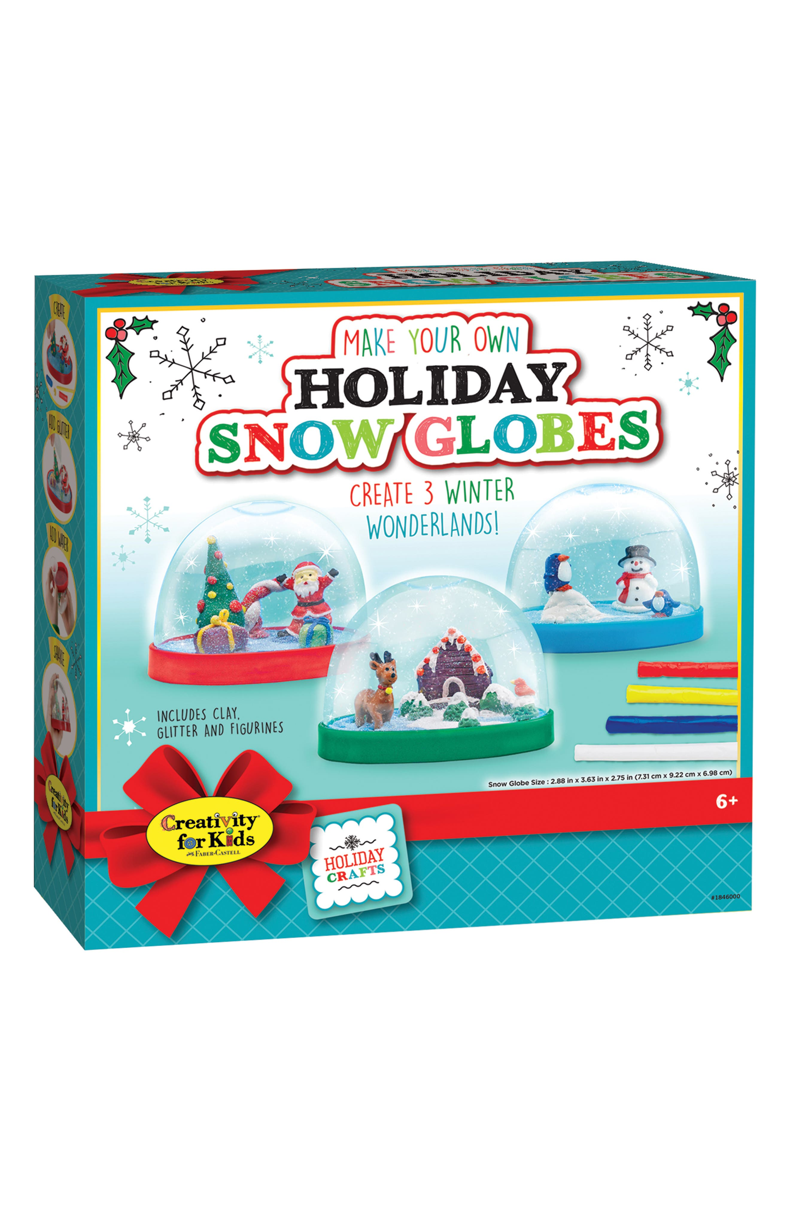 Make Your Own Holiday Snow Globe Set,                             Main thumbnail 1, color,                             460