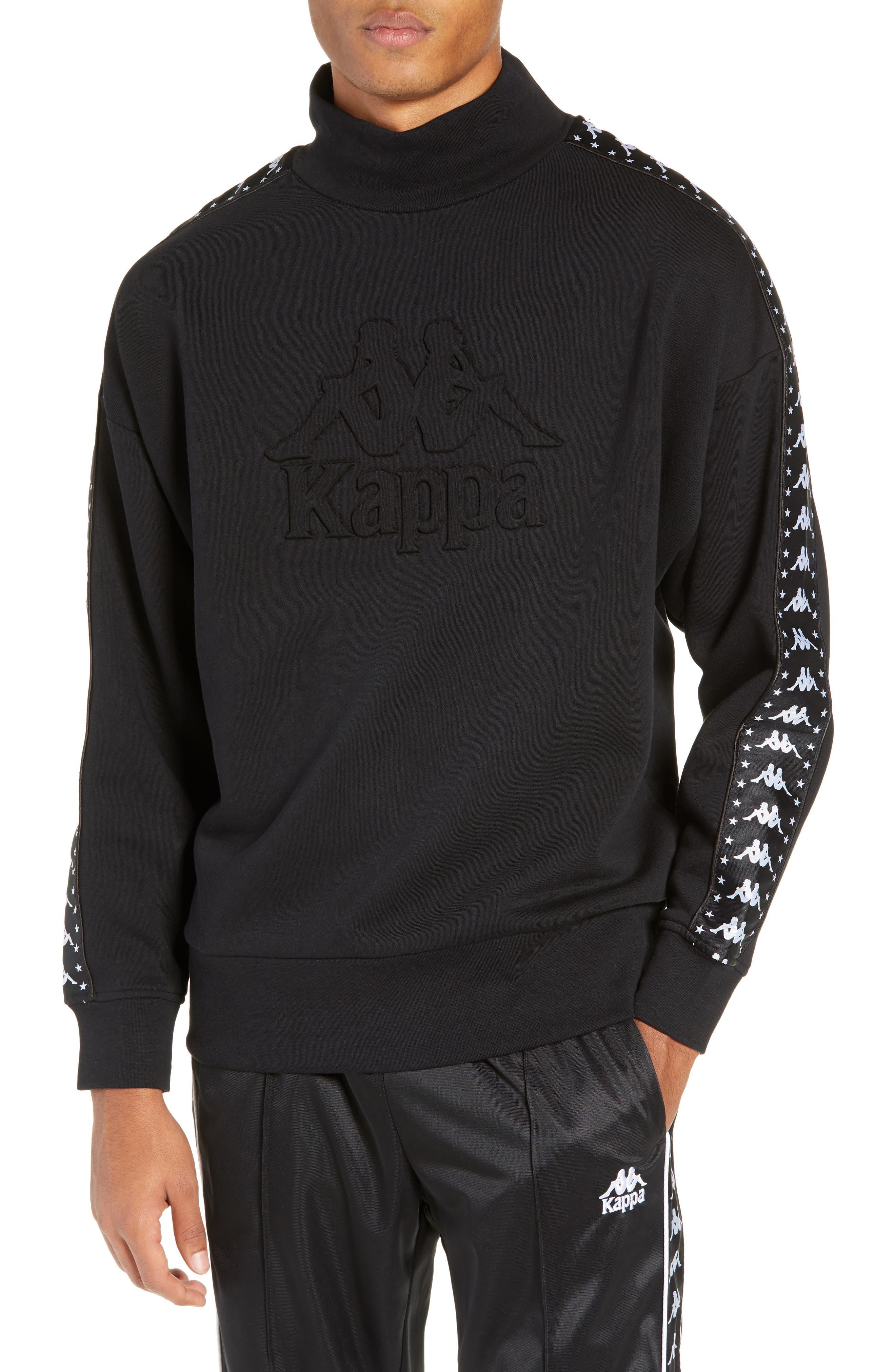 Authentic Alef Mock Neck Sweatshirt,                             Main thumbnail 1, color,                             BLACK/ WHITE