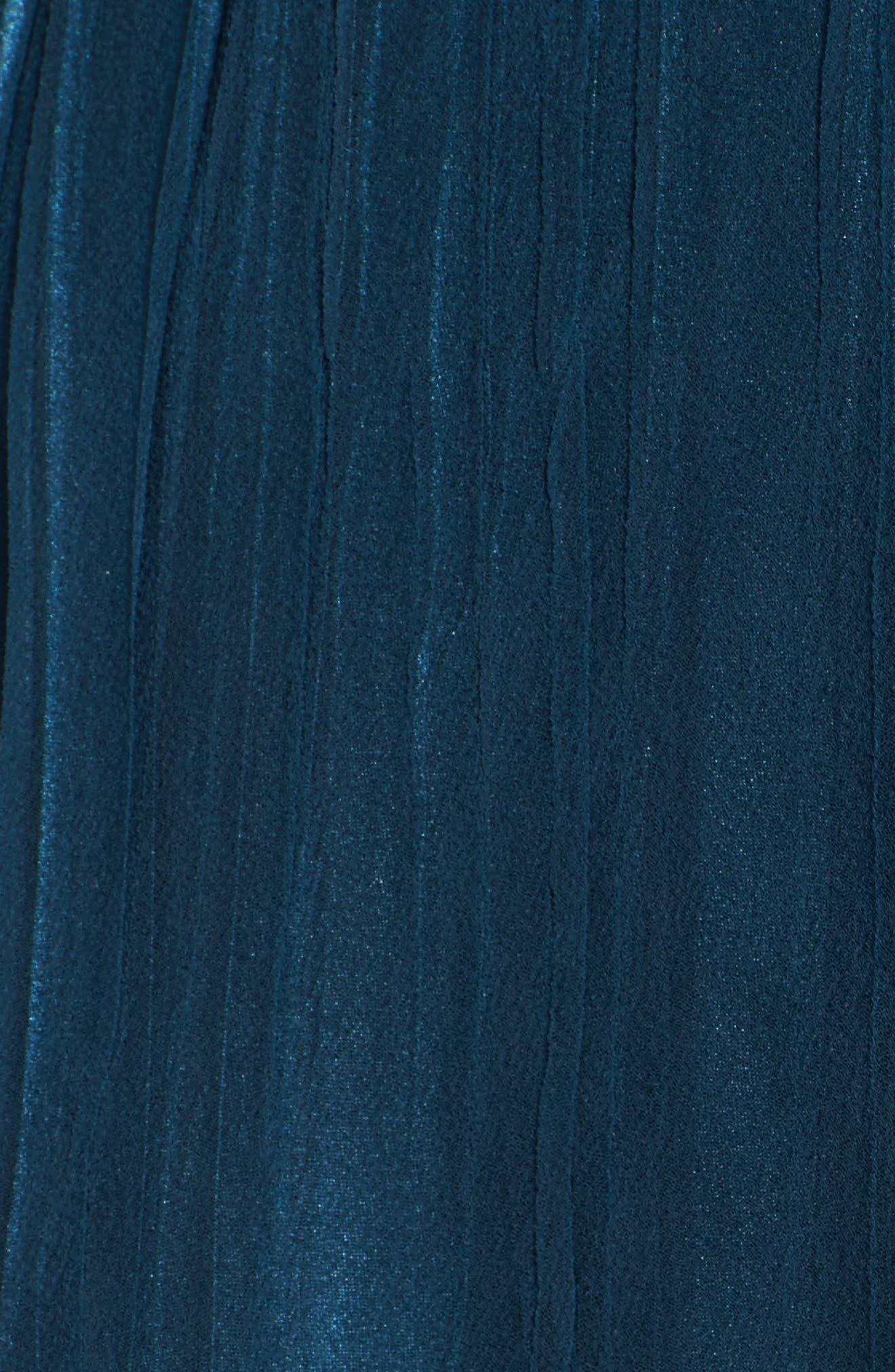 Chiffon Overlay Long Blouson Dress,                             Alternate thumbnail 5, color,                             400