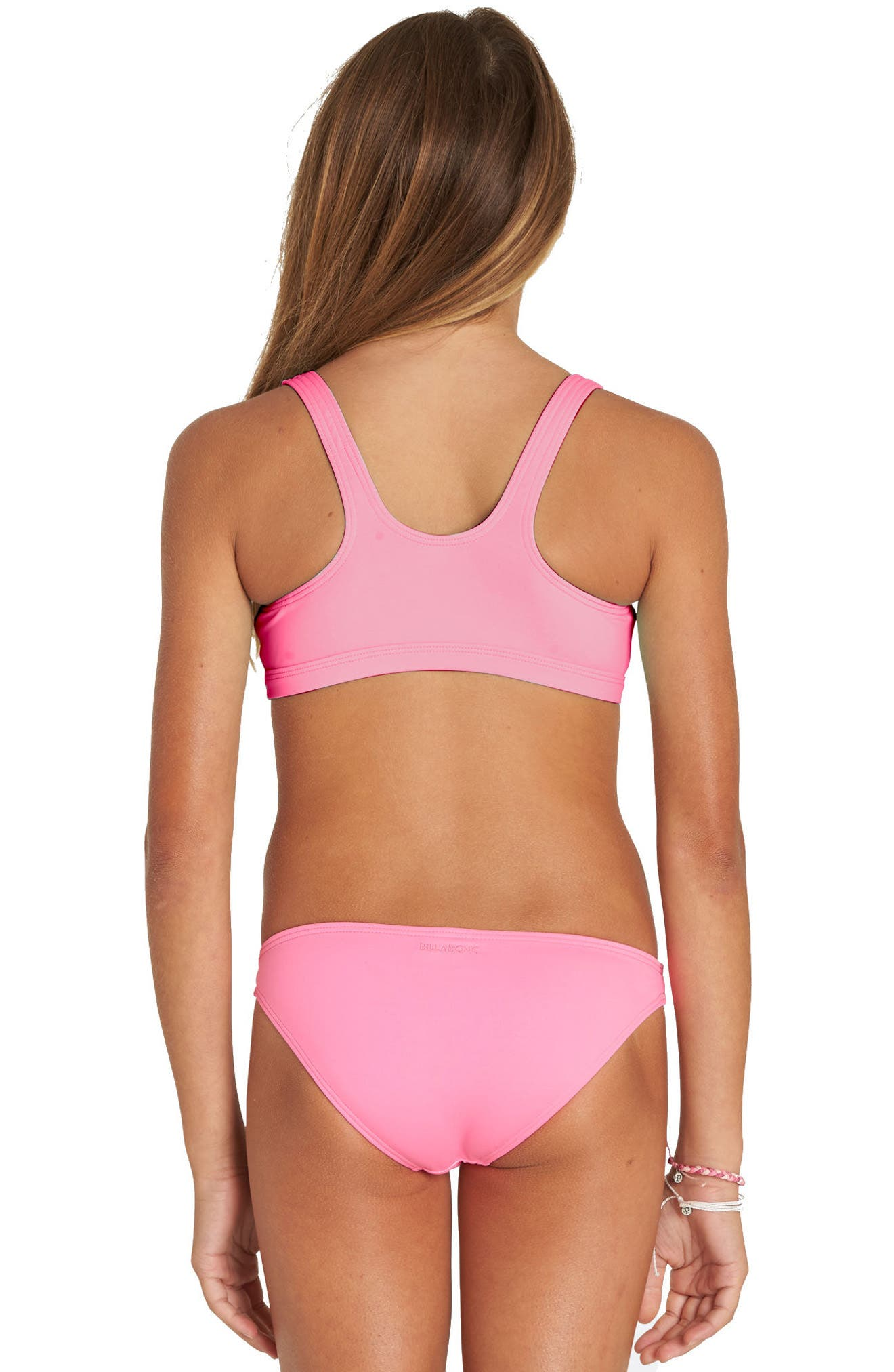 Sol Searcher Two-Piece Swimsuit,                             Alternate thumbnail 3, color,                             TAHITI PINK