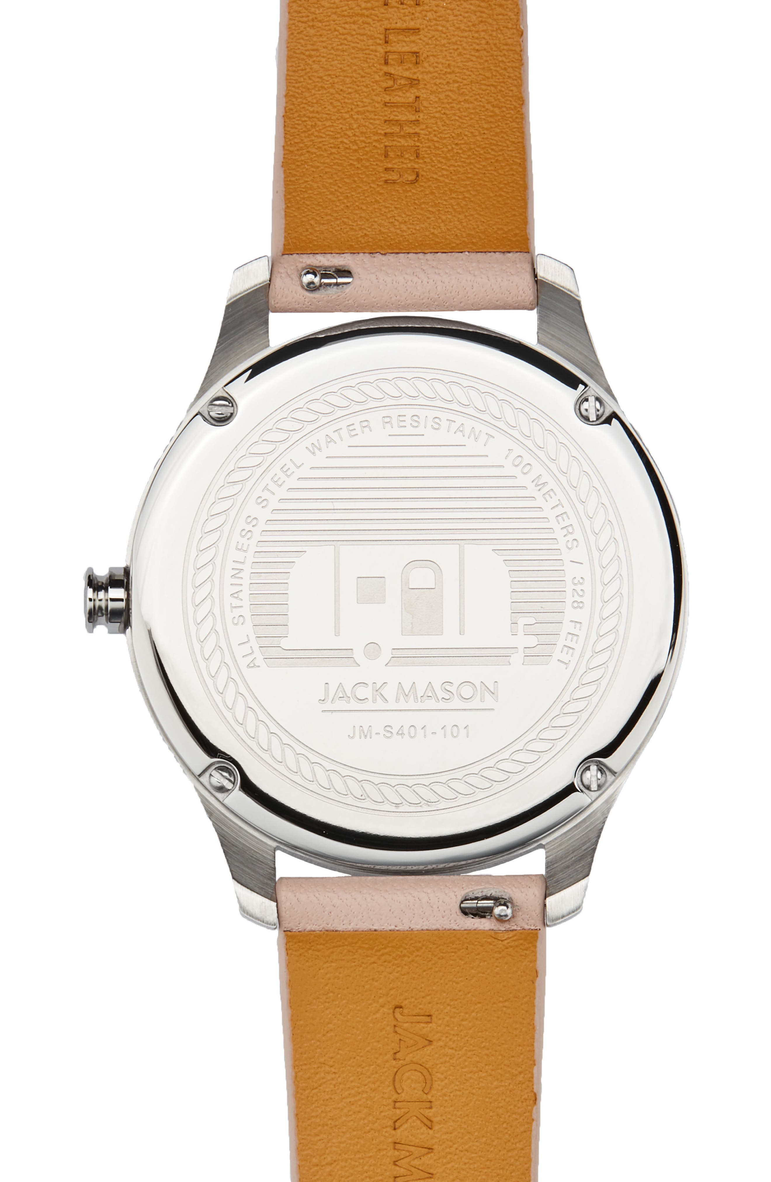 Slim Leather Strap Watch, 38mm,                             Alternate thumbnail 7, color,