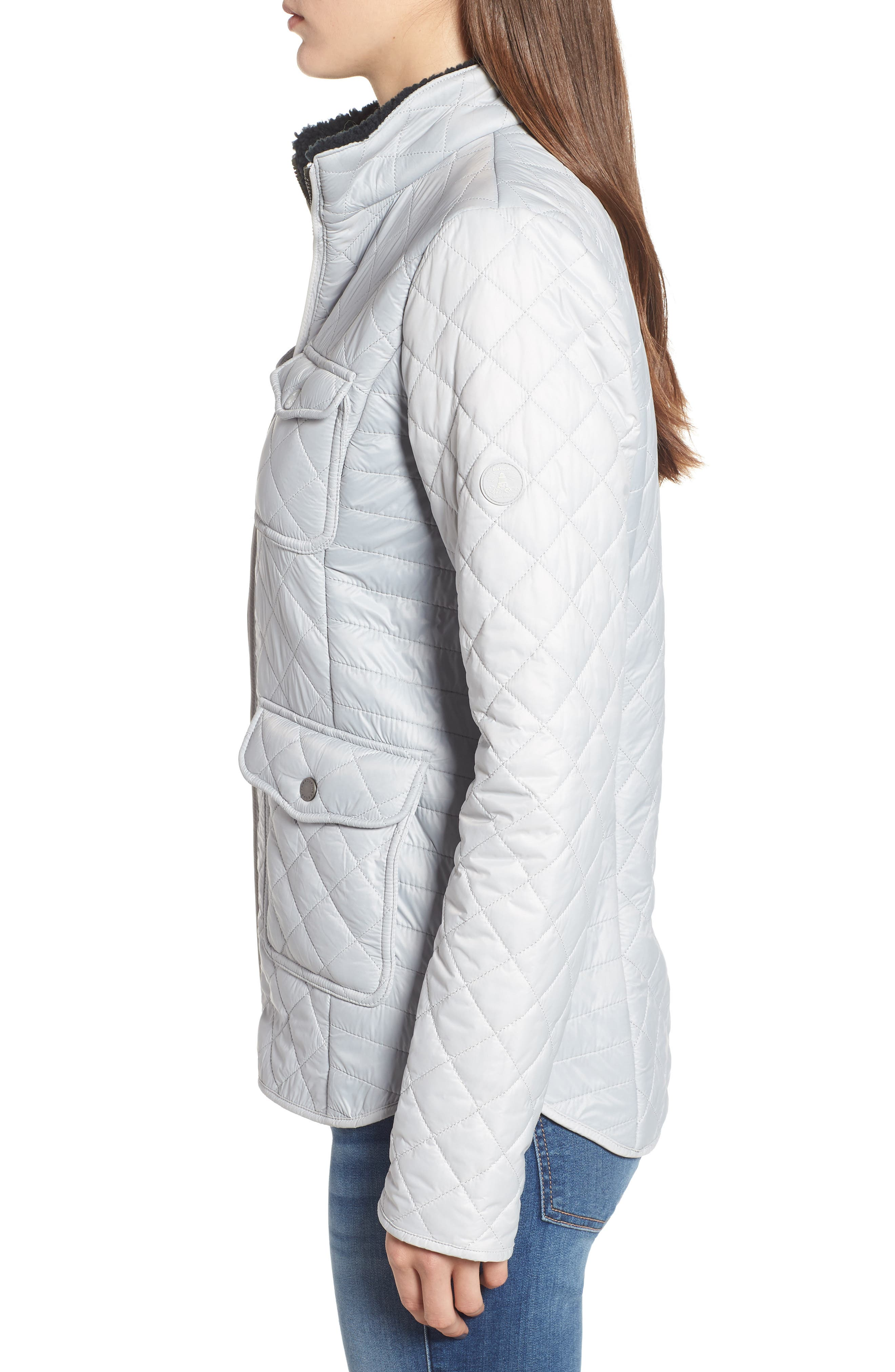 BARBOUR,                             Weymouth Quilted Jacket,                             Alternate thumbnail 3, color,                             100
