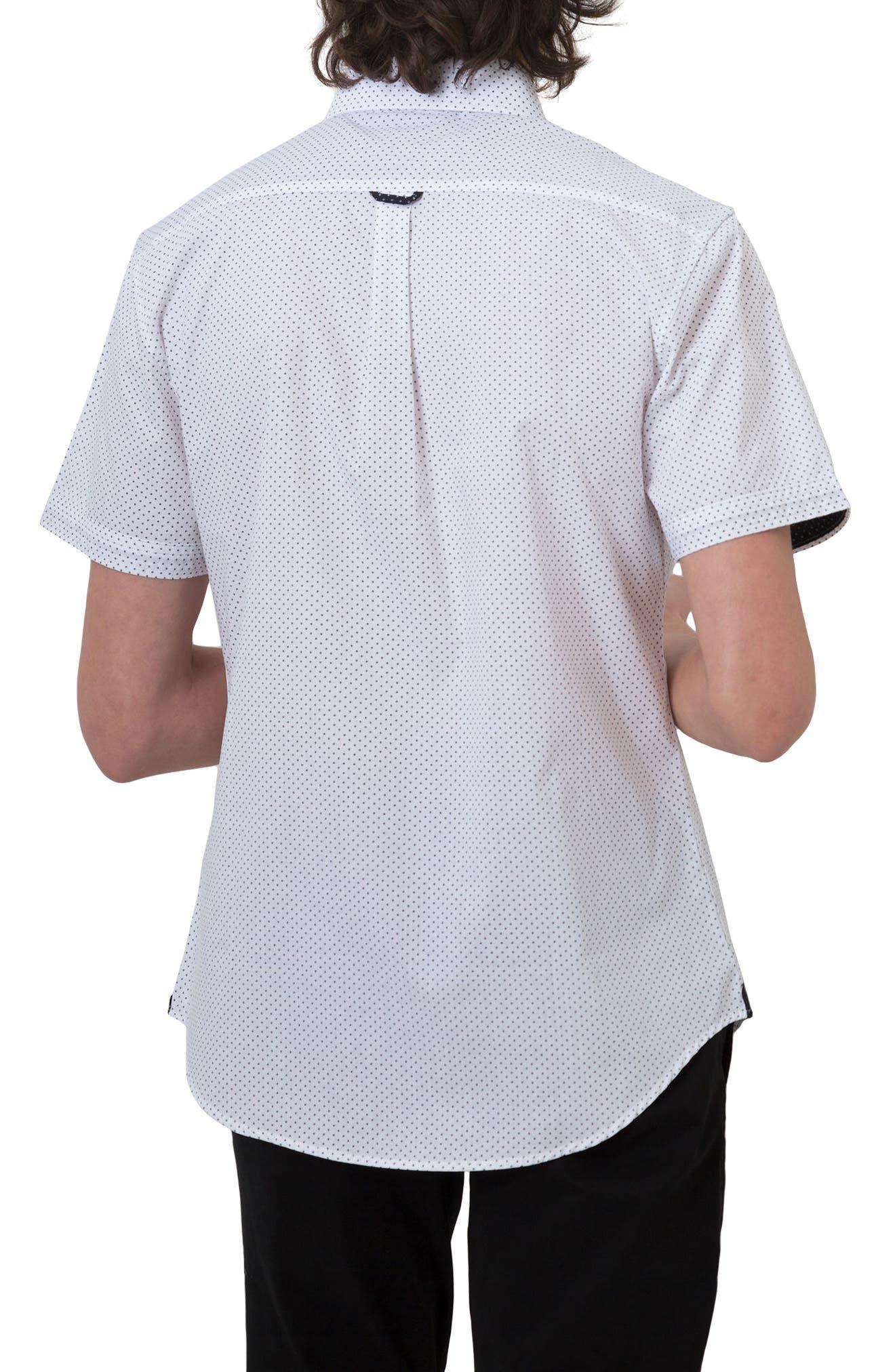 Move On Microprint Woven Shirt,                             Alternate thumbnail 2, color,                             100