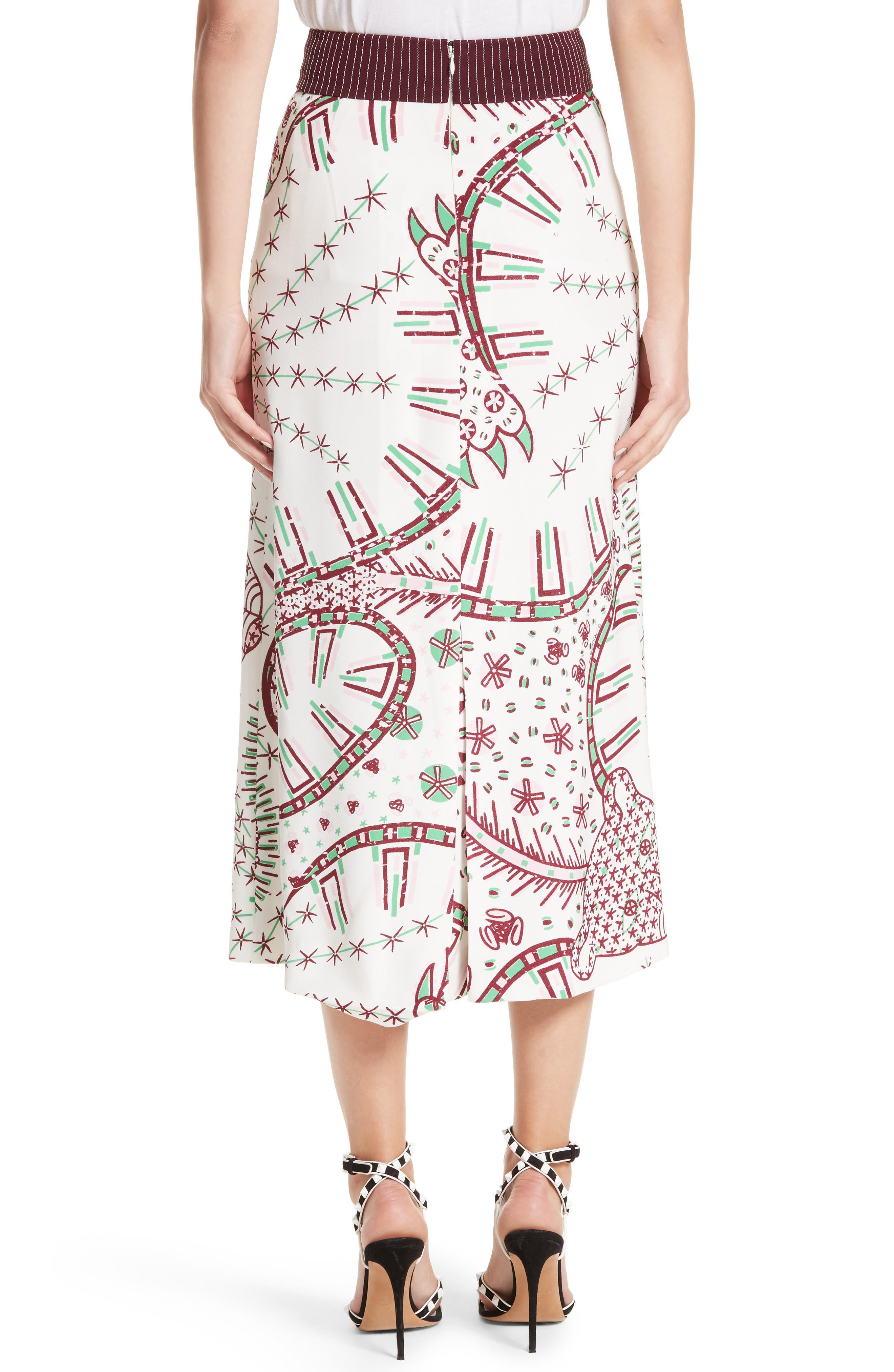 Leopard Cady Skirt,                             Alternate thumbnail 2, color,                             100