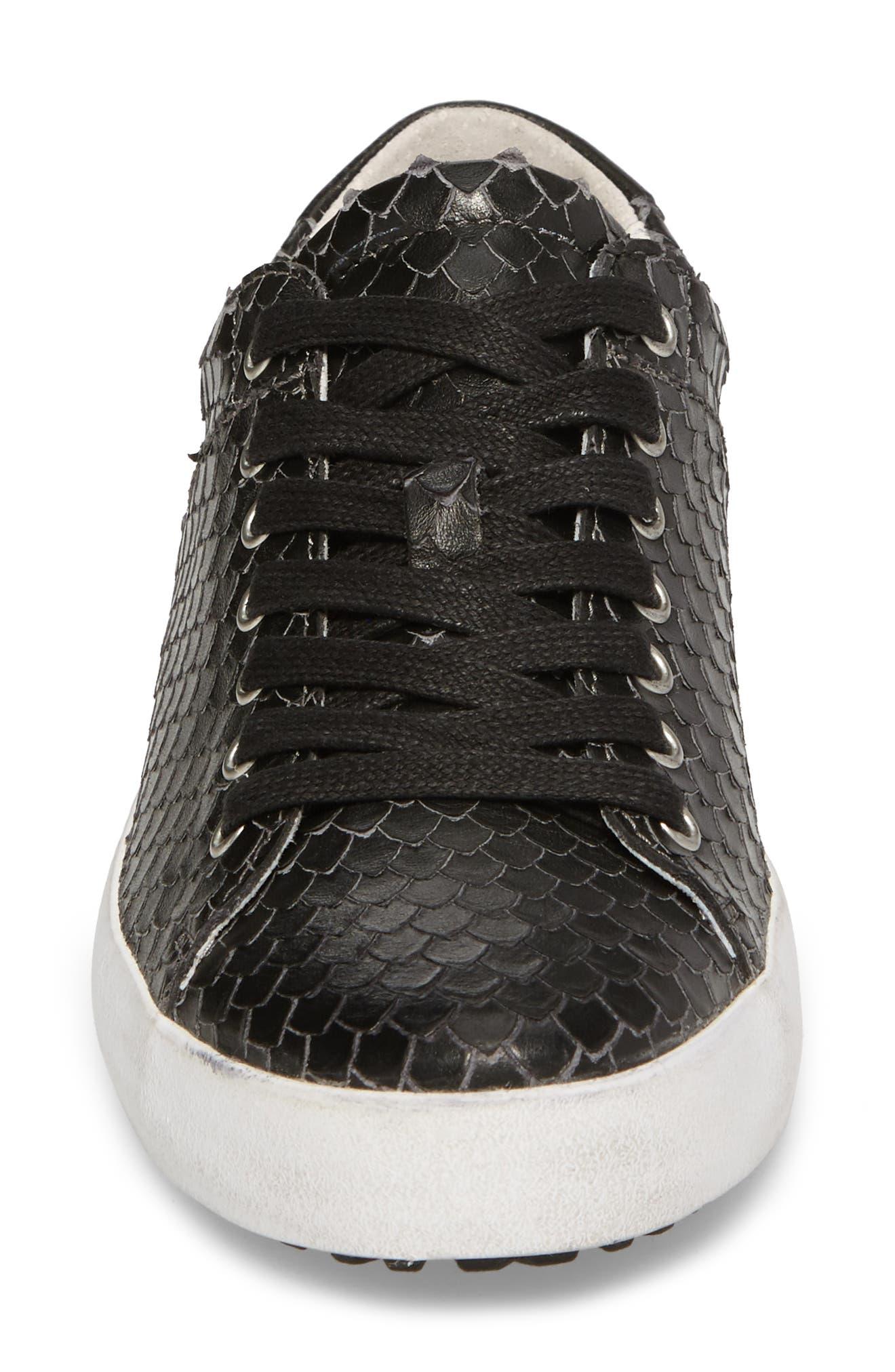 OL25 Sneaker,                             Alternate thumbnail 4, color,                             BLACK LEATHER