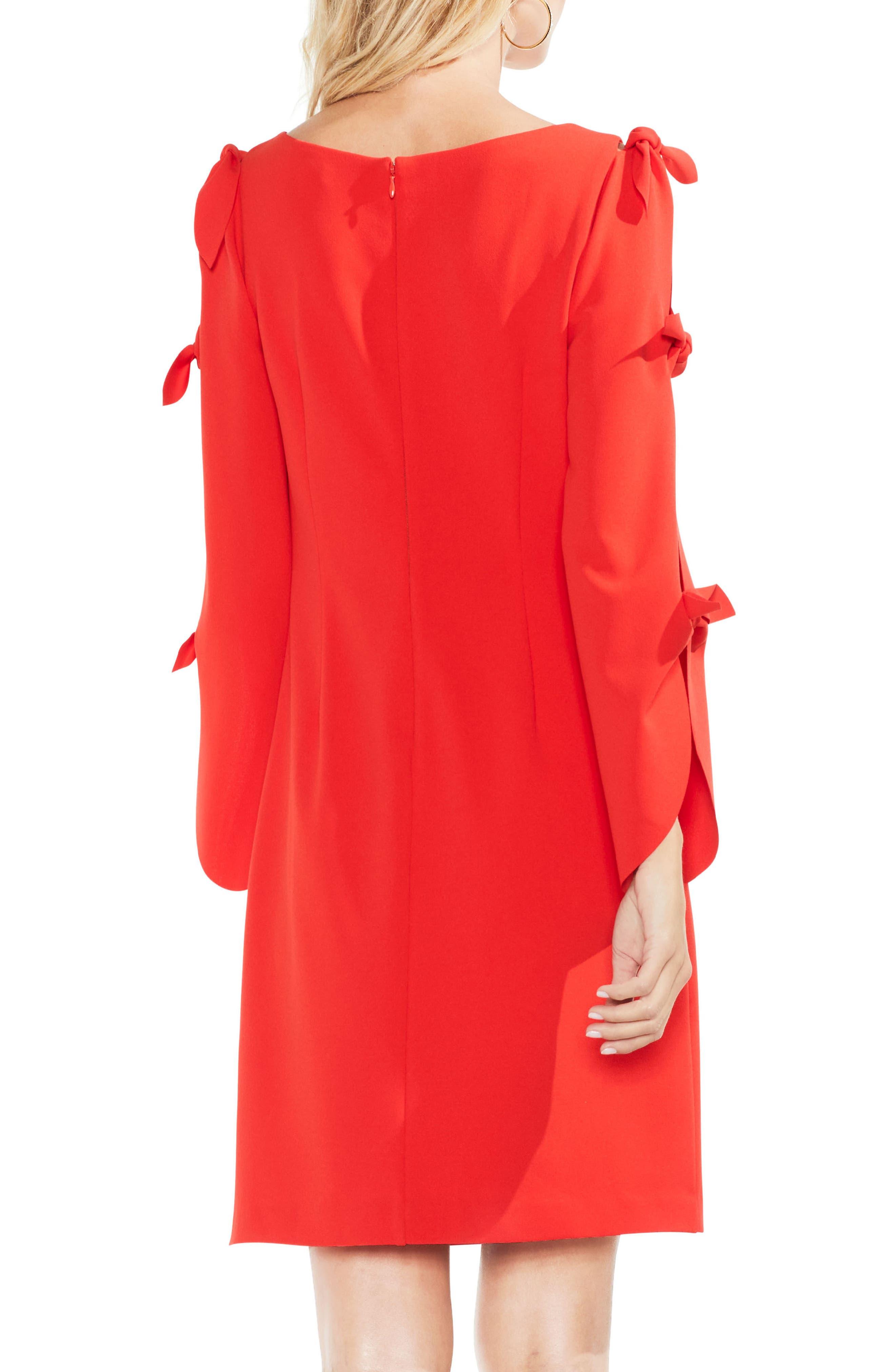 Tie Sleeve Shift Dress,                             Alternate thumbnail 7, color,