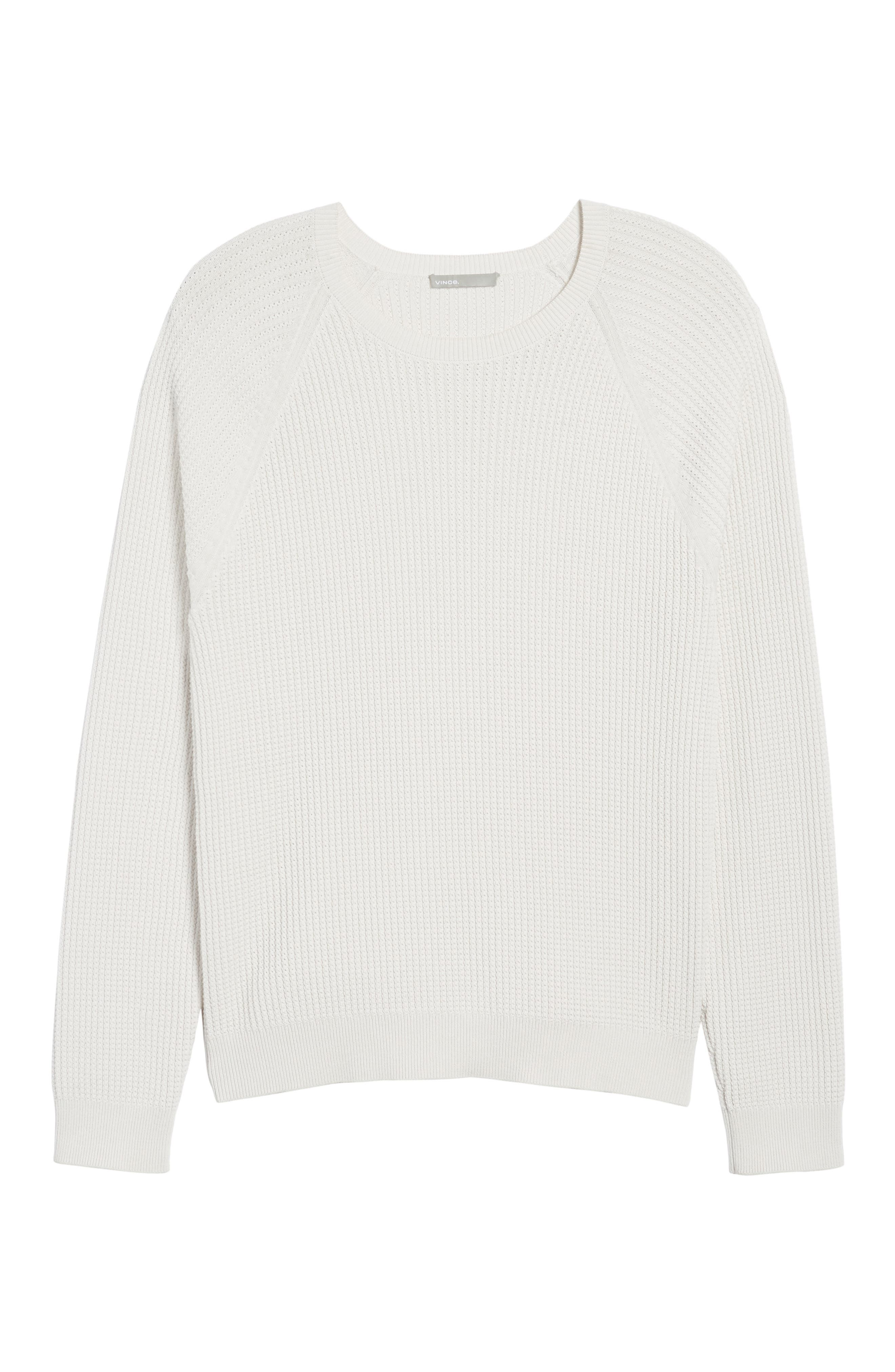 Slim Fit Thermal Knit Raglan Sweater,                             Alternate thumbnail 6, color,                             100