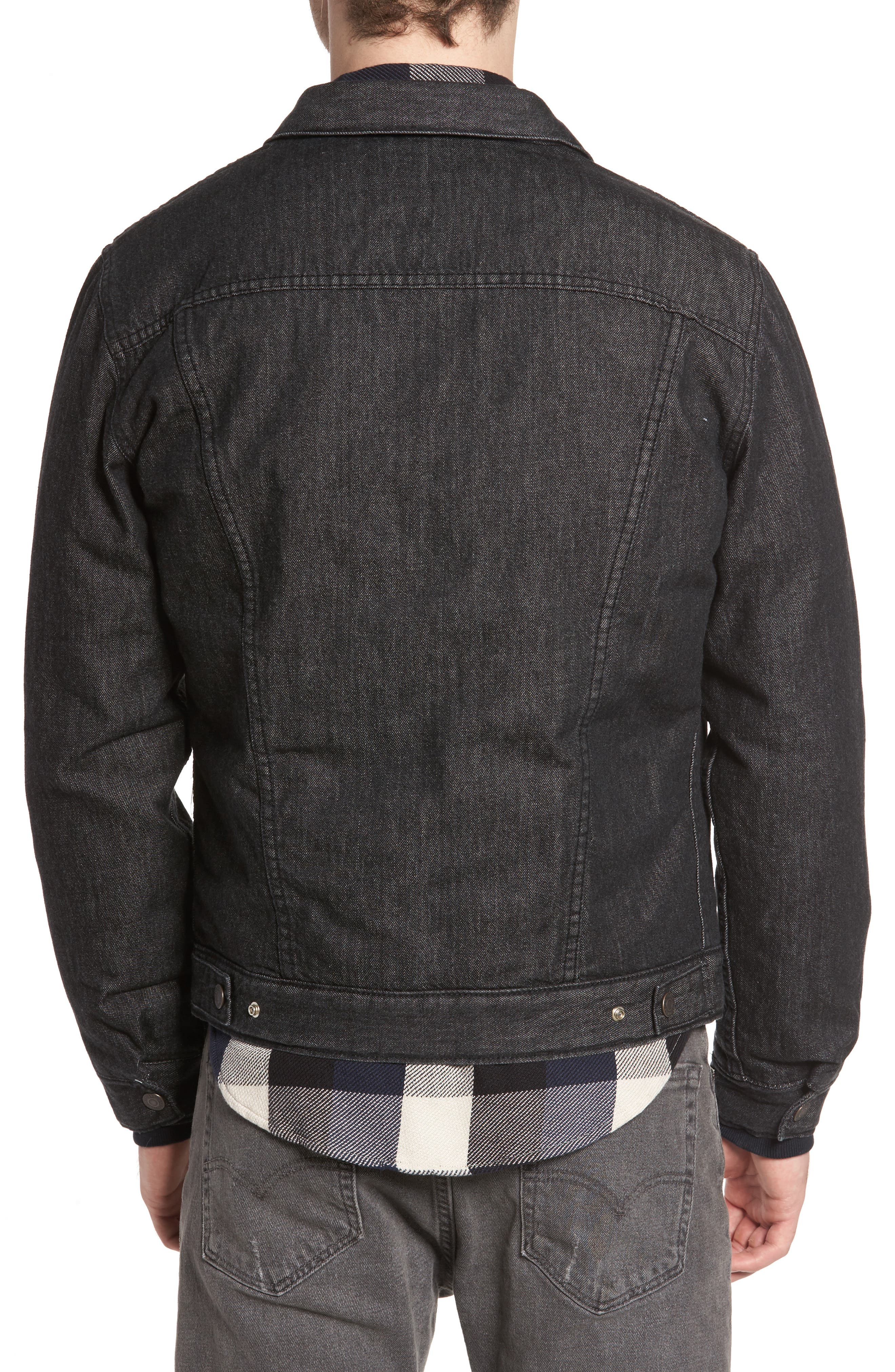 Down Insulated Trucker Jacket,                             Alternate thumbnail 2, color,                             001