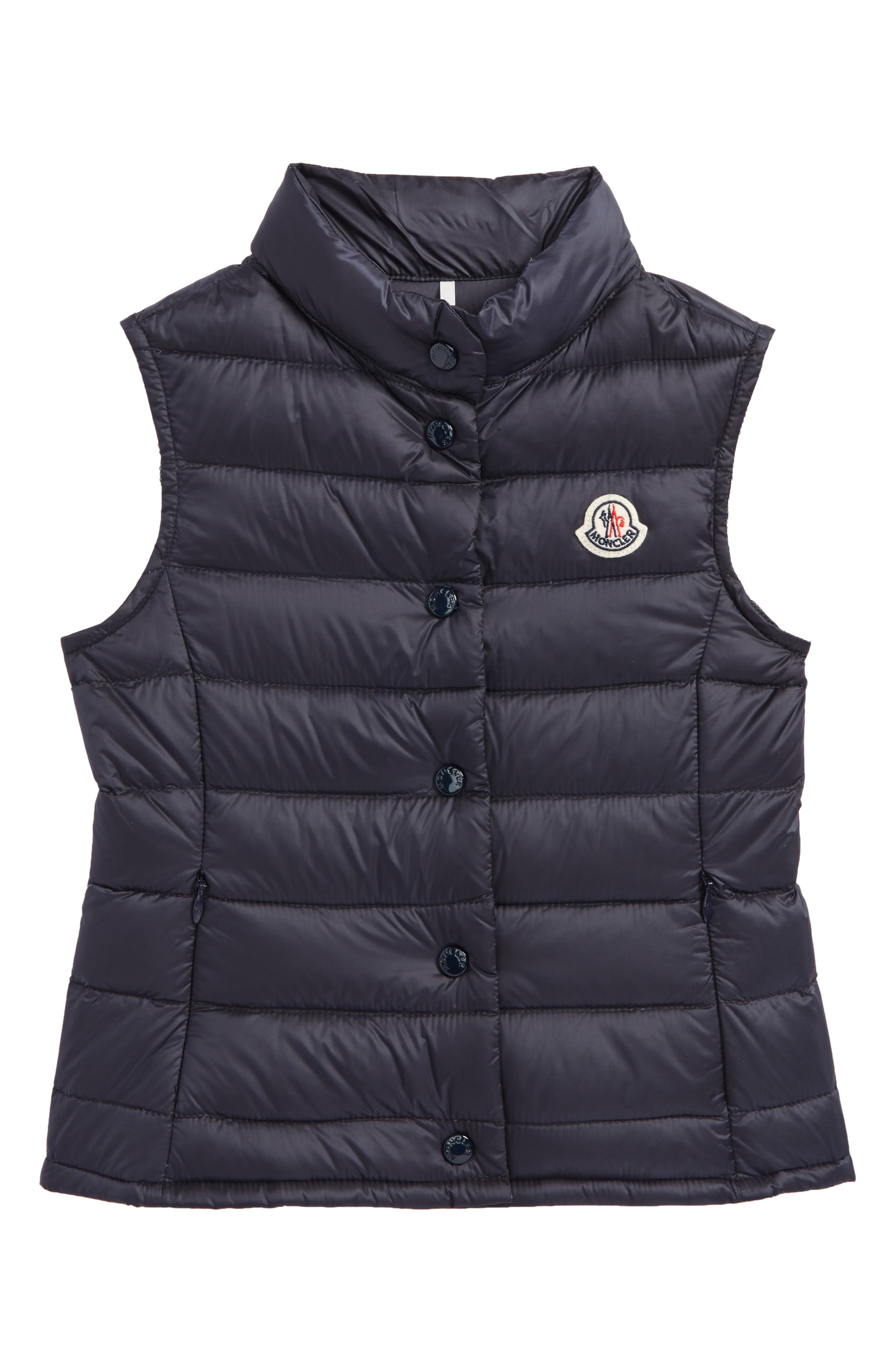 Liane Quitled Down Water Resistant Vest,                         Main,                         color, NAVY