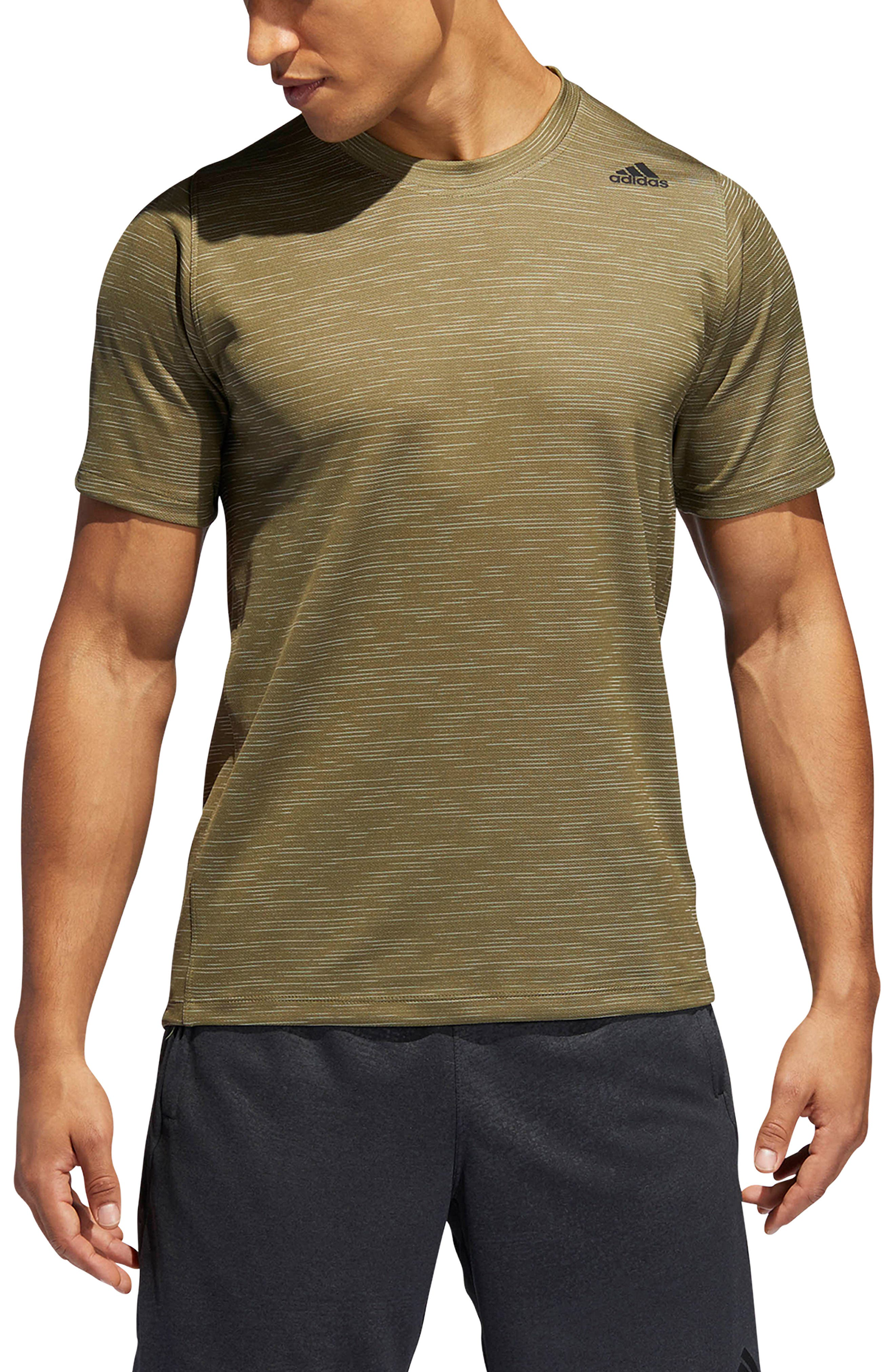 Adidas Freelift Tech Climacool Fitted T-Shirt, Green