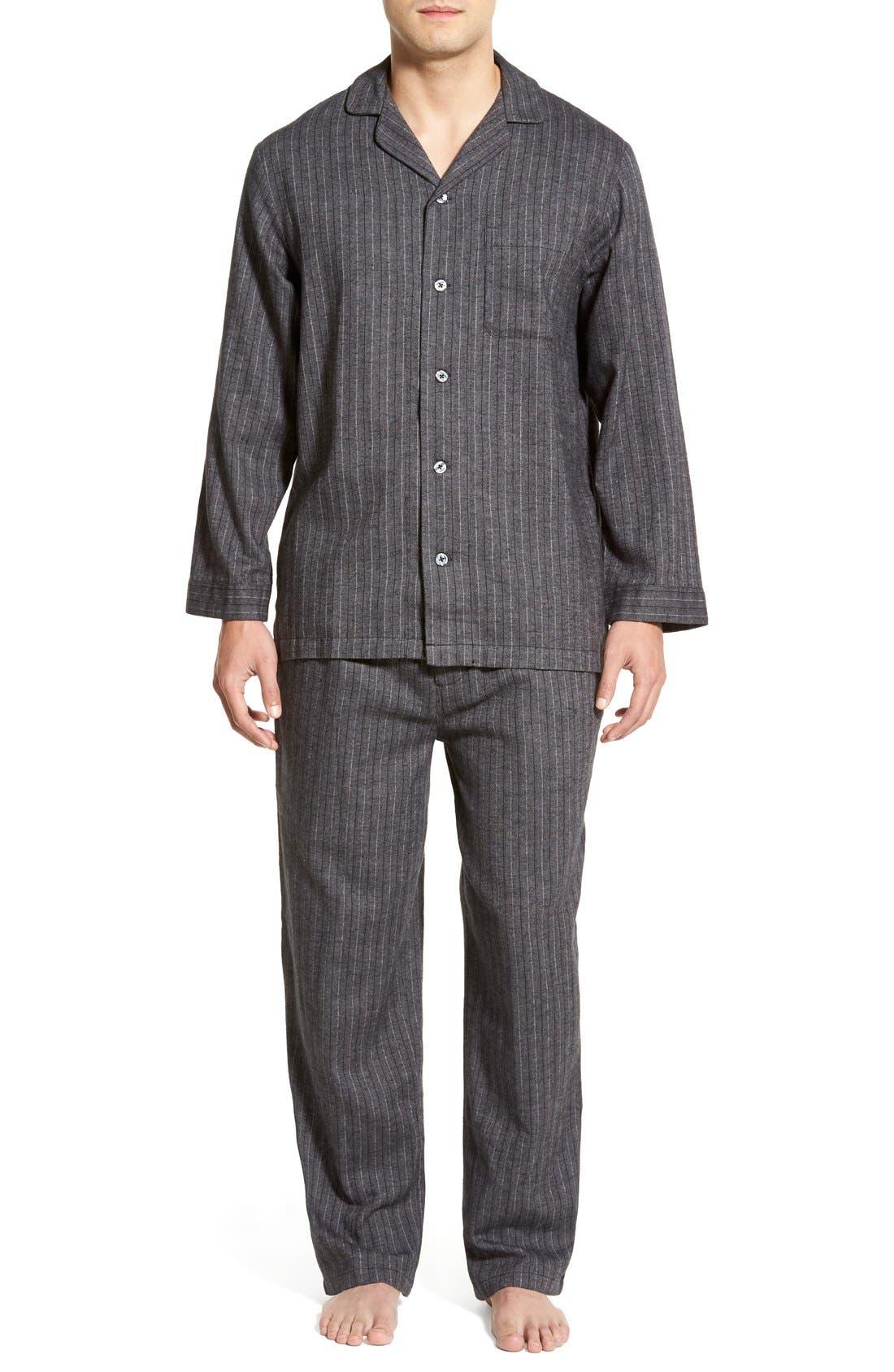 '824' Flannel Pajama Set,                             Main thumbnail 18, color,