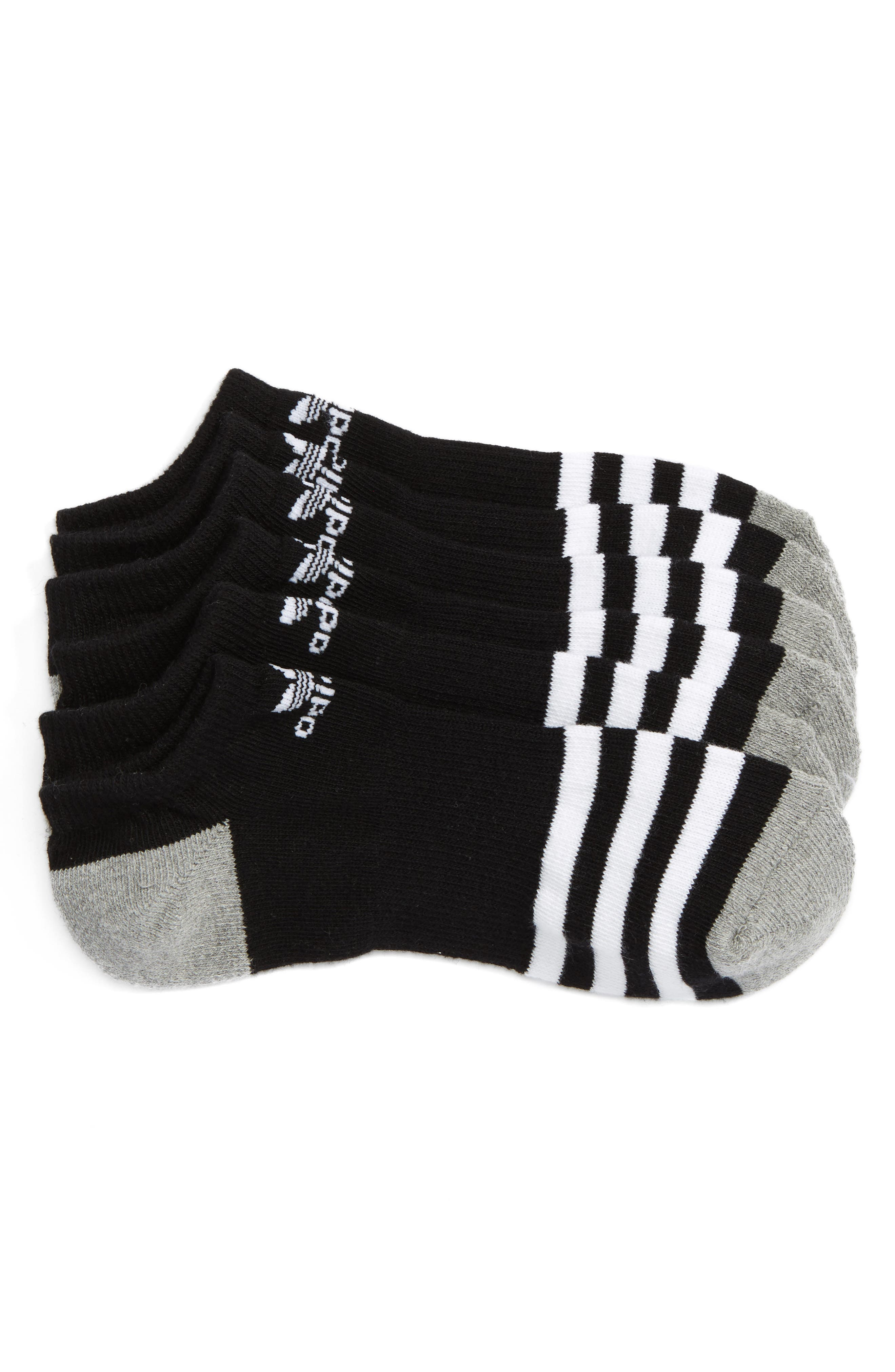 3-Pack Original Cushioned No-Show Socks,                             Main thumbnail 1, color,                             BLACK/ WHITE/ BLACK