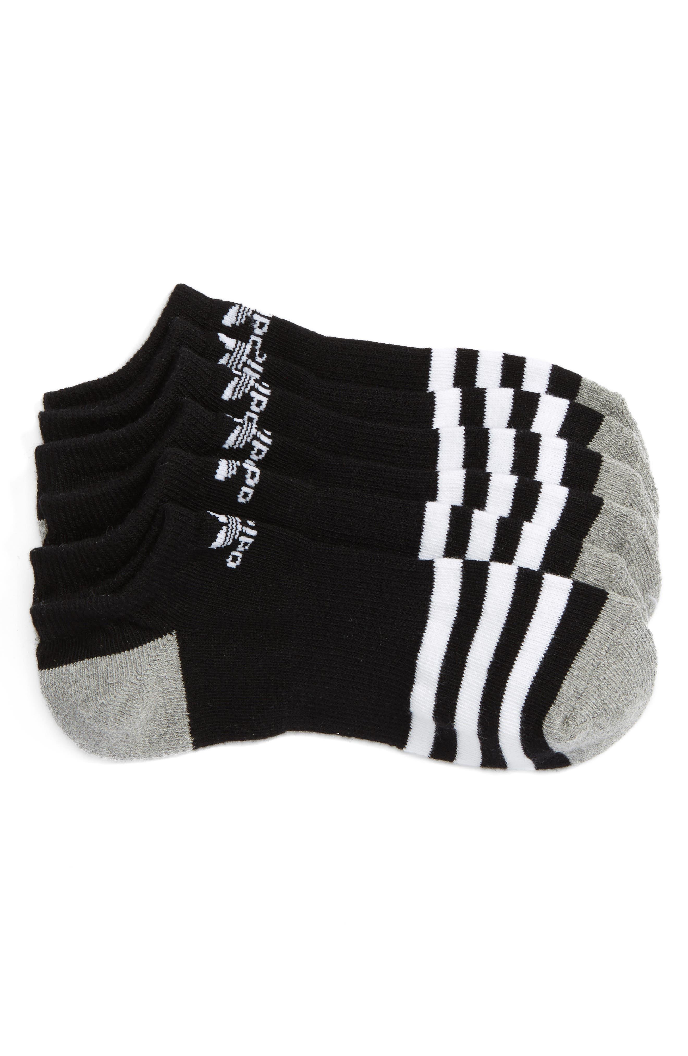 3-Pack Original Cushioned No-Show Socks,                         Main,                         color, BLACK/ WHITE/ BLACK