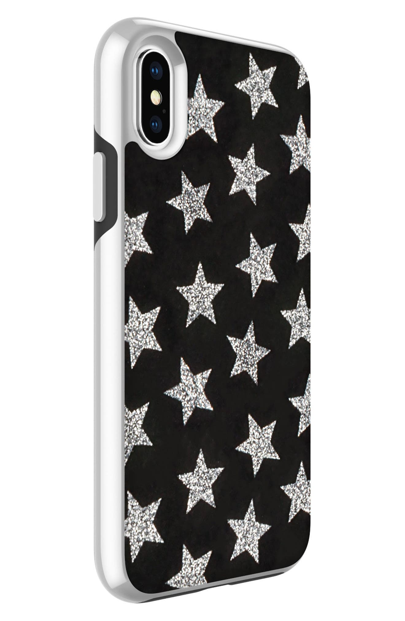 REBECCA MINKOFF,                             Glitterfall iPhone 8 Plus Case,                             Alternate thumbnail 3, color,                             001
