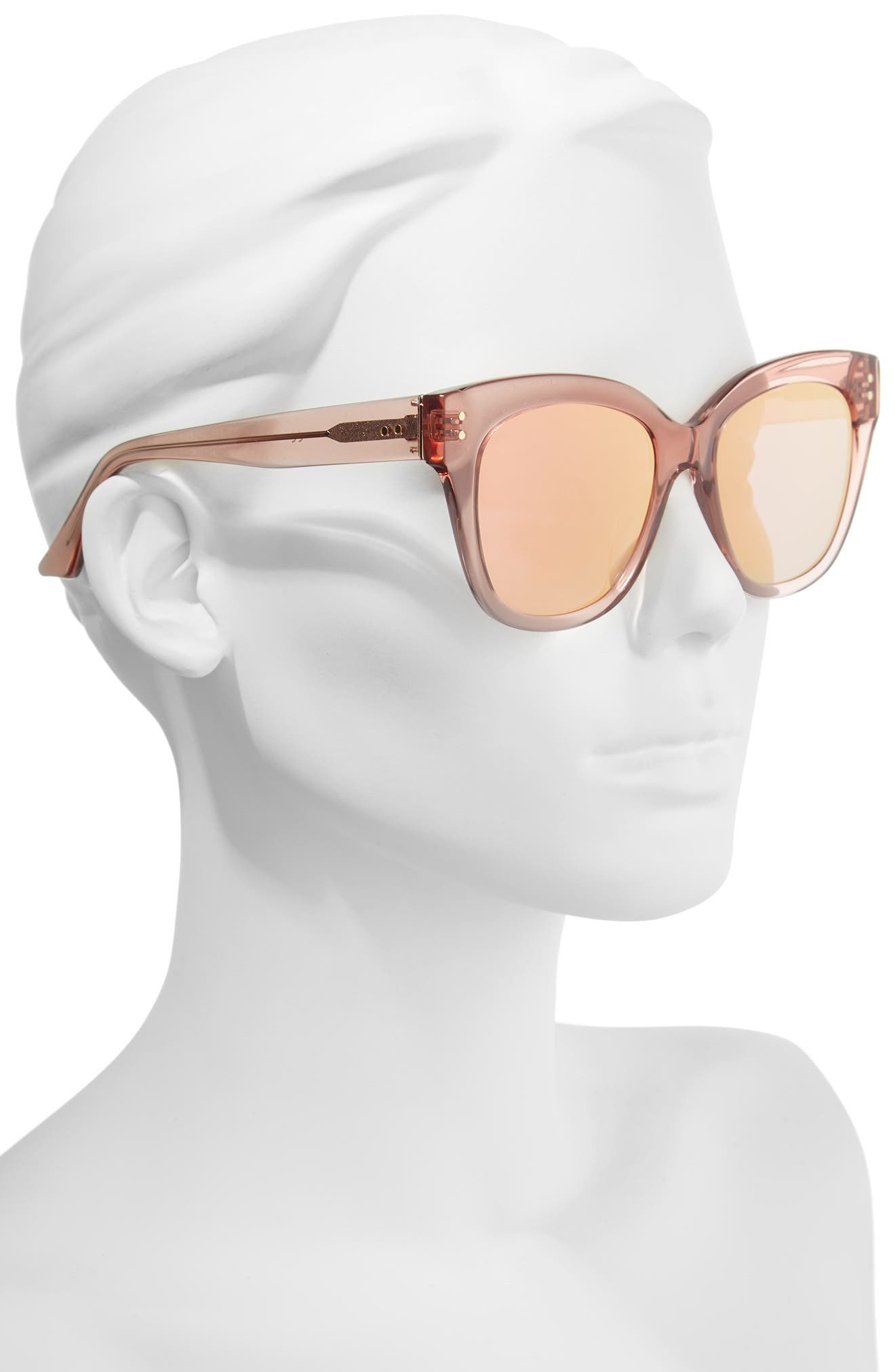 See Saw 55mm Cat Eye Sunglasses,                             Alternate thumbnail 2, color,                             ROSE- GOLD